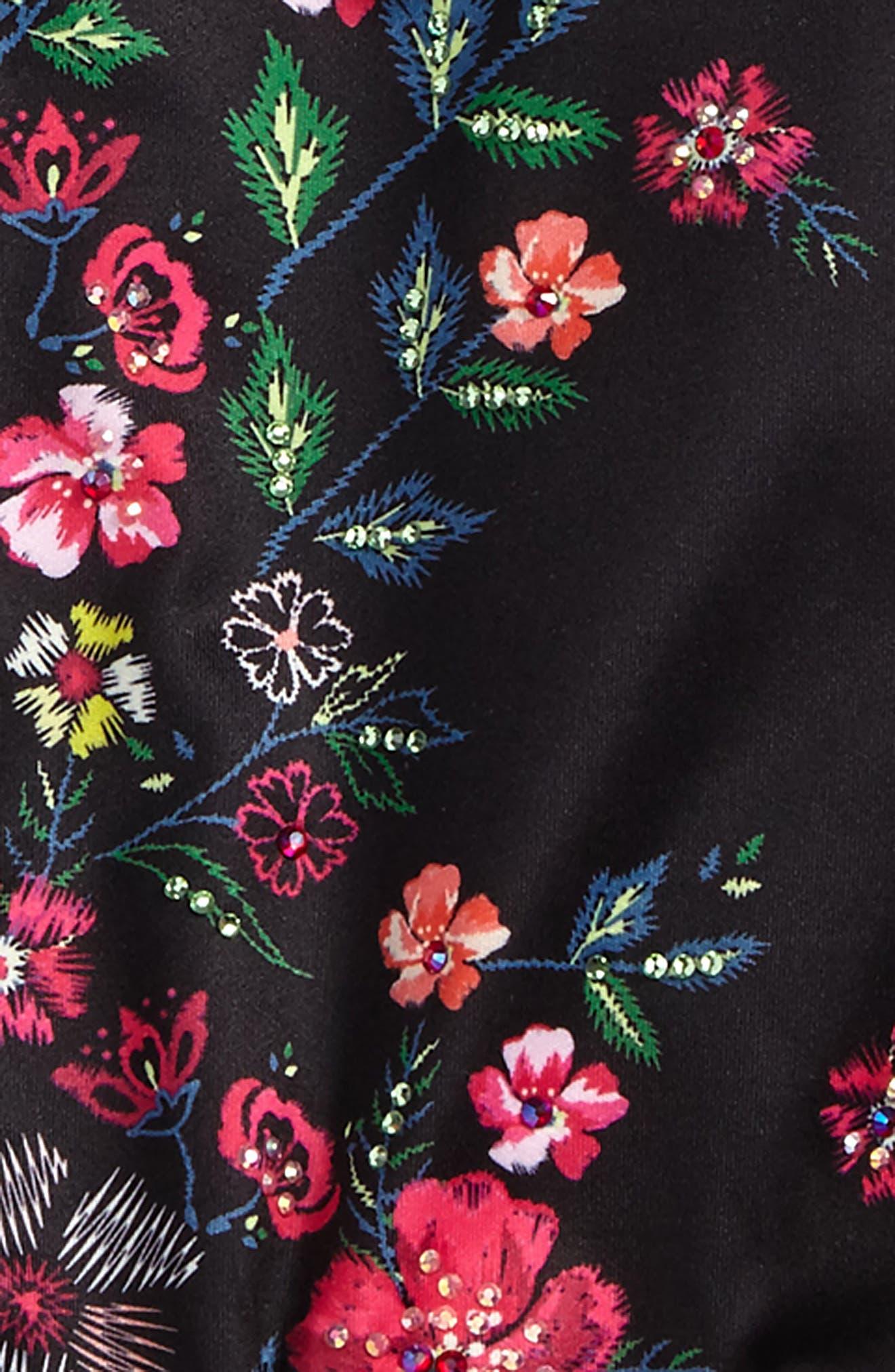 Floral Print Bomber Jacket,                             Alternate thumbnail 2, color,                             001