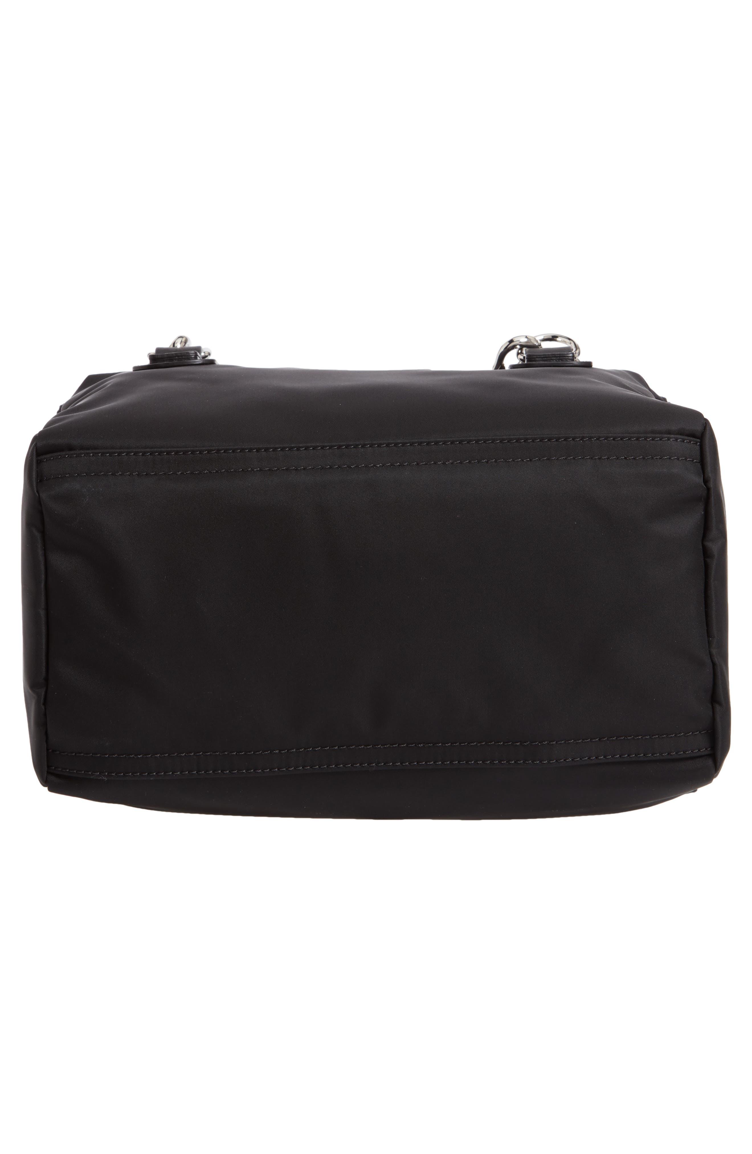 GIVENCHY,                             Small Pandora Logo Shoulder Bag,                             Alternate thumbnail 6, color,                             BLACK
