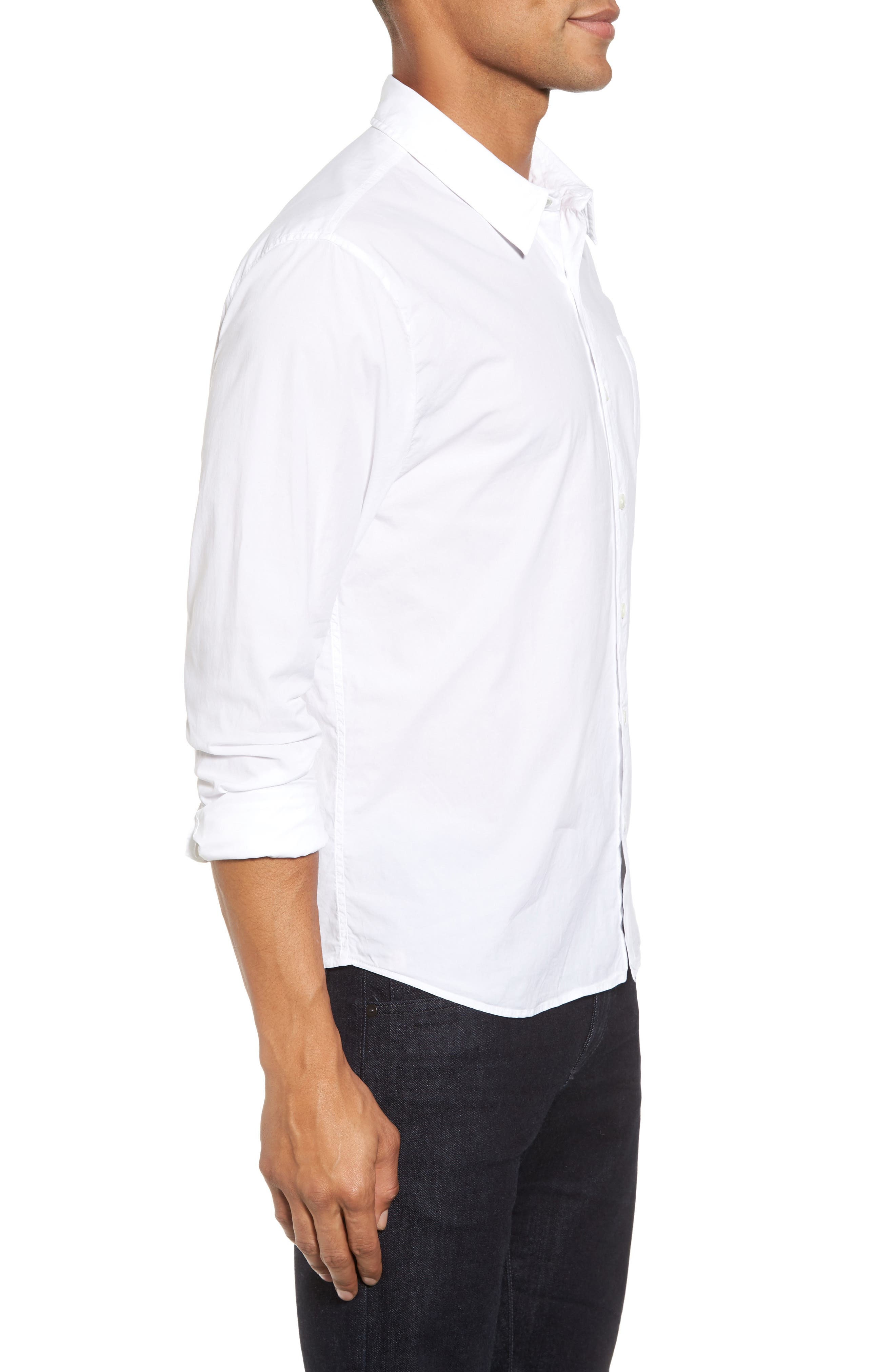 Relaxed Fit Sport Shirt,                             Alternate thumbnail 3, color,                             100