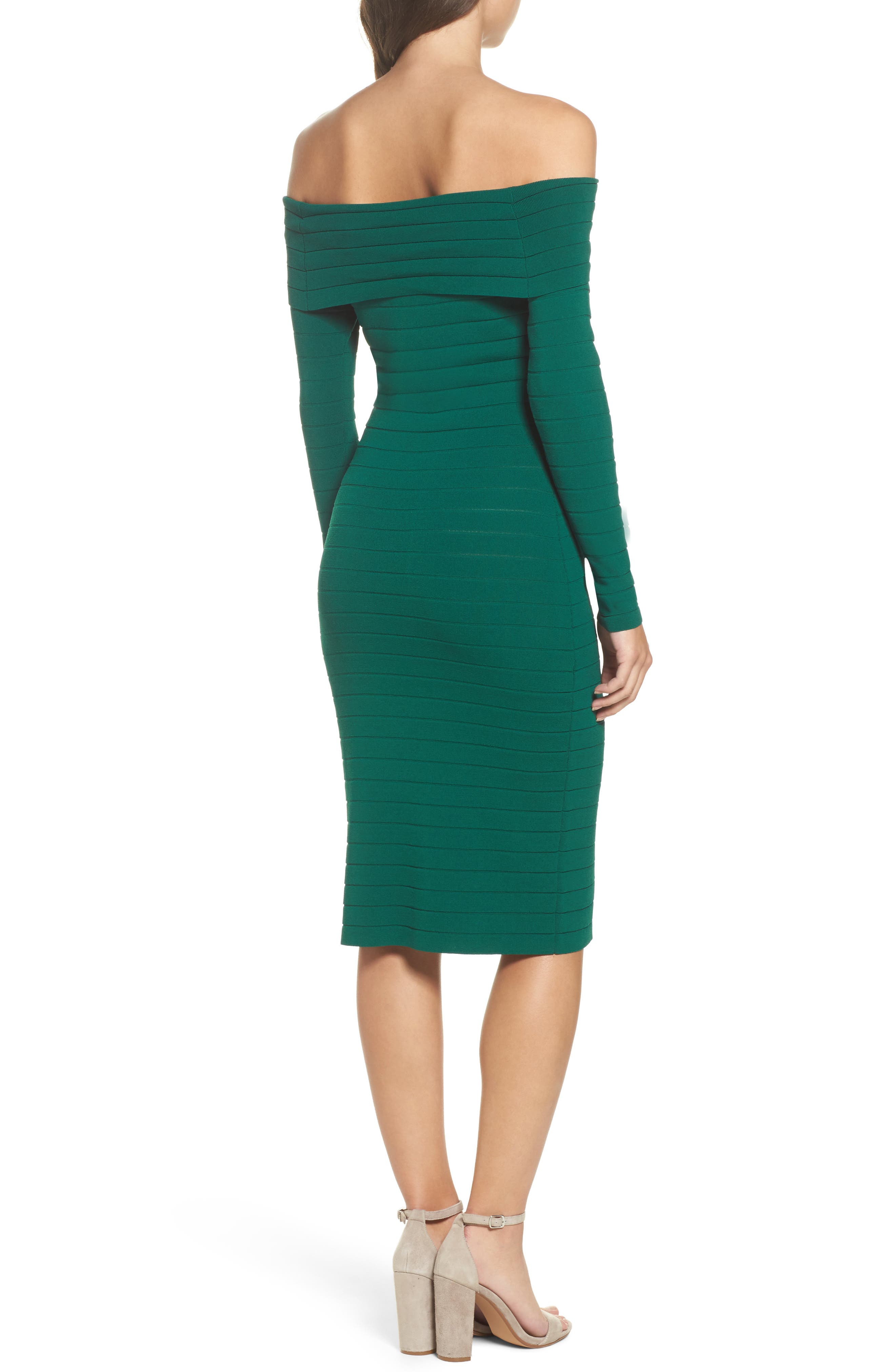 Bandage Midi Dress,                             Alternate thumbnail 7, color,