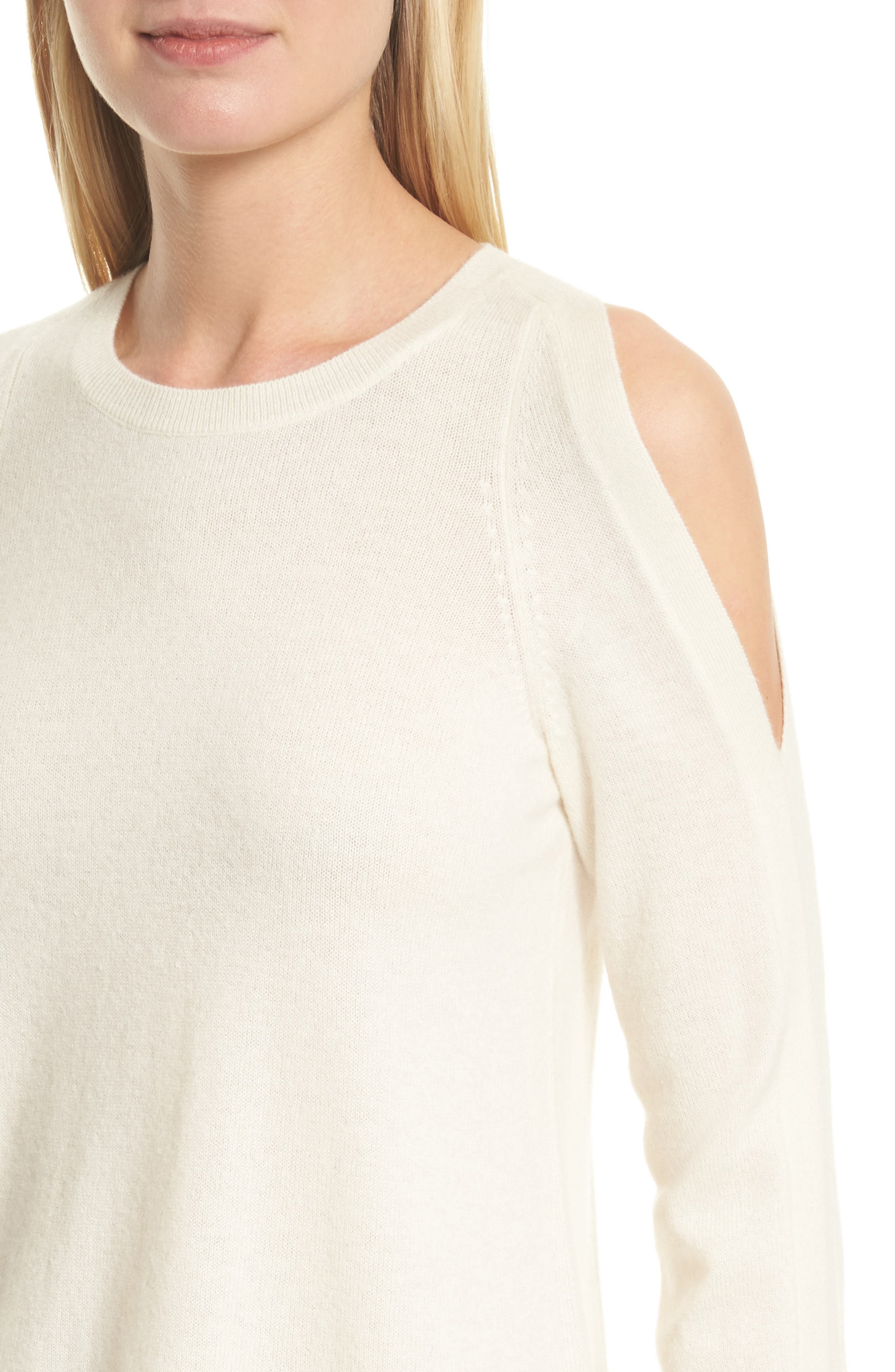 Amalyn Cold Shoulder Wool & Cashmere Sweater,                             Alternate thumbnail 12, color,