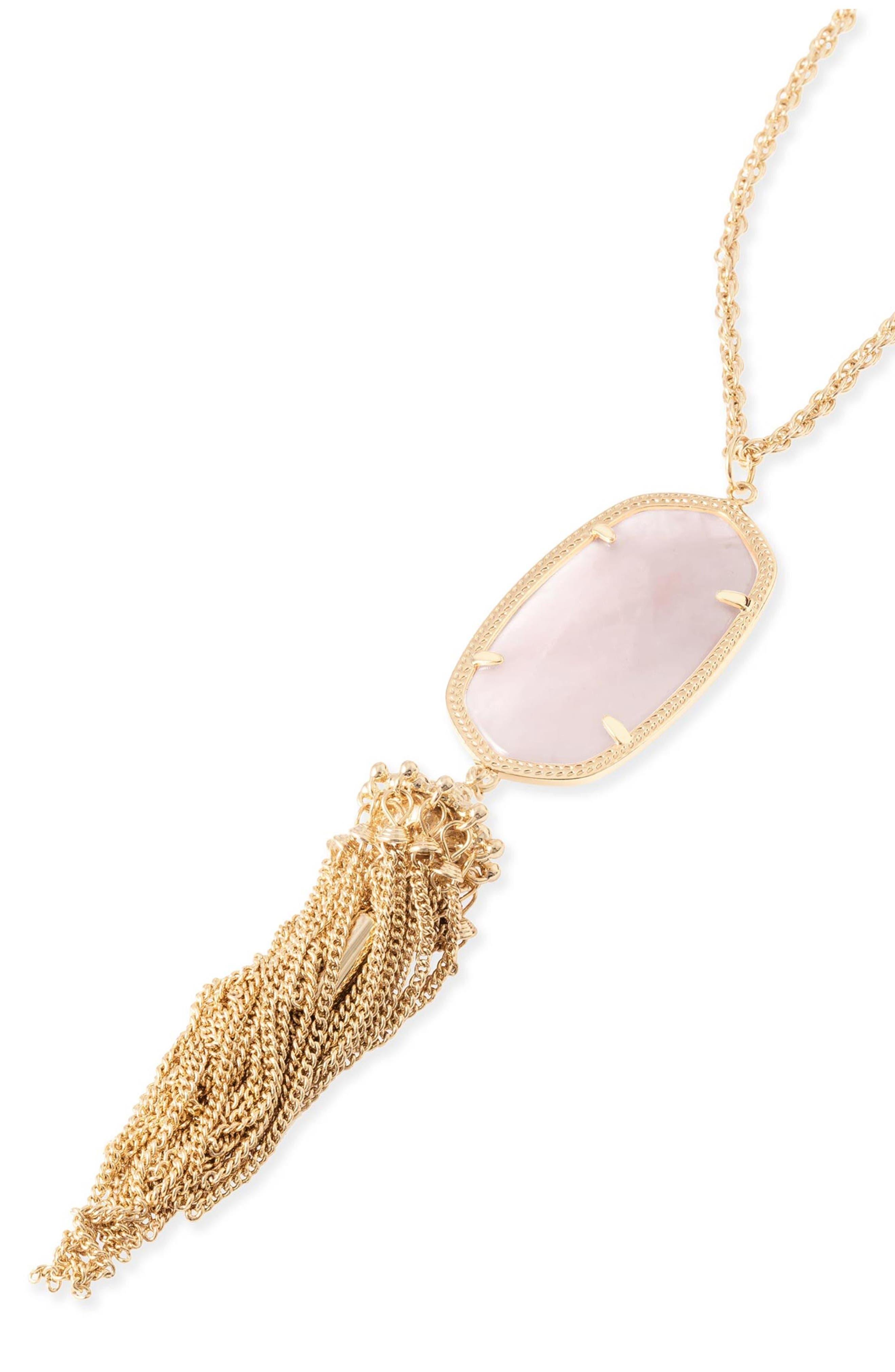 Rayne Stone Tassel Pendant Necklace,                             Alternate thumbnail 247, color,