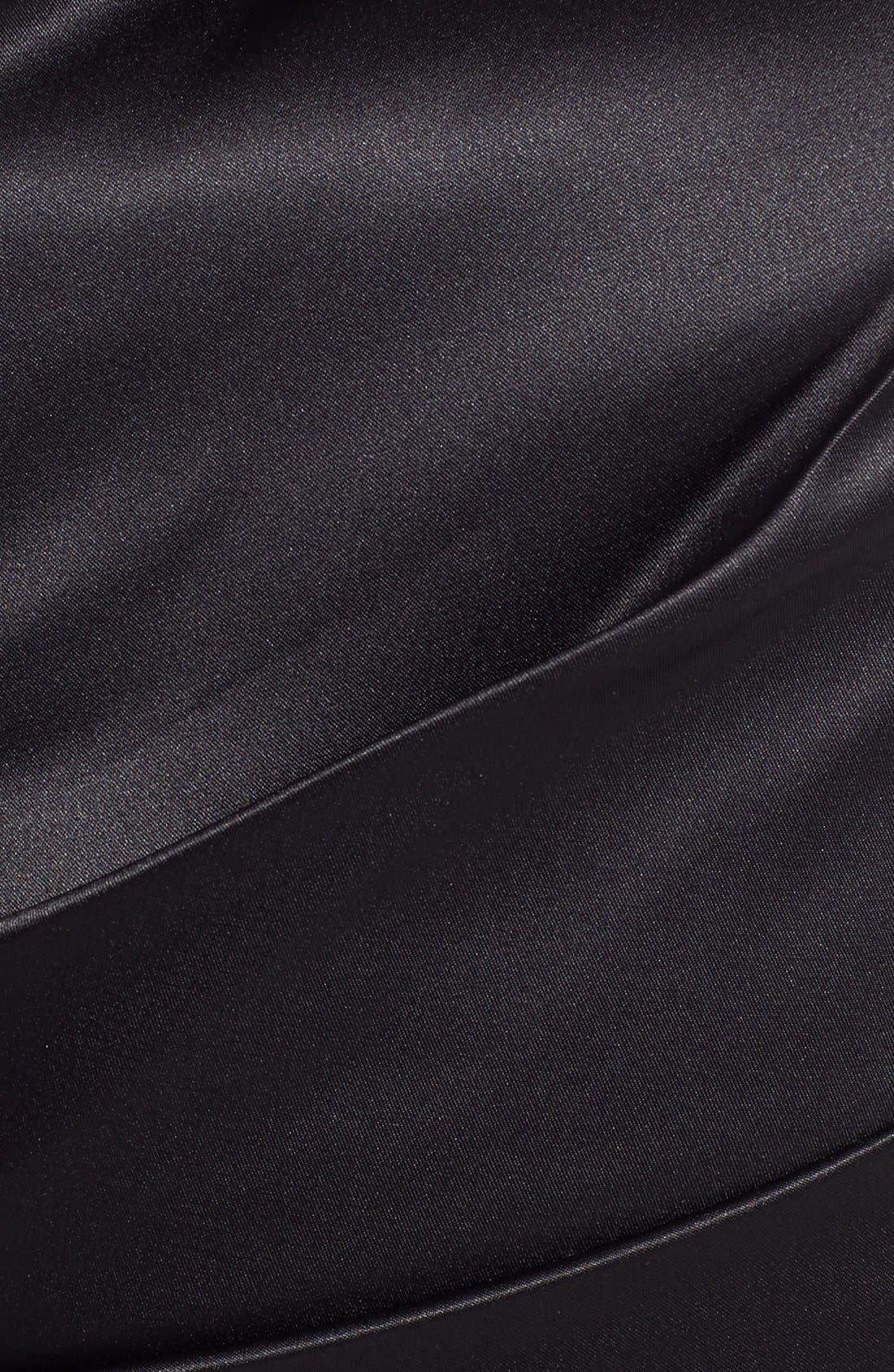 Beaded One-Shoulder Satin Dress,                             Alternate thumbnail 15, color,