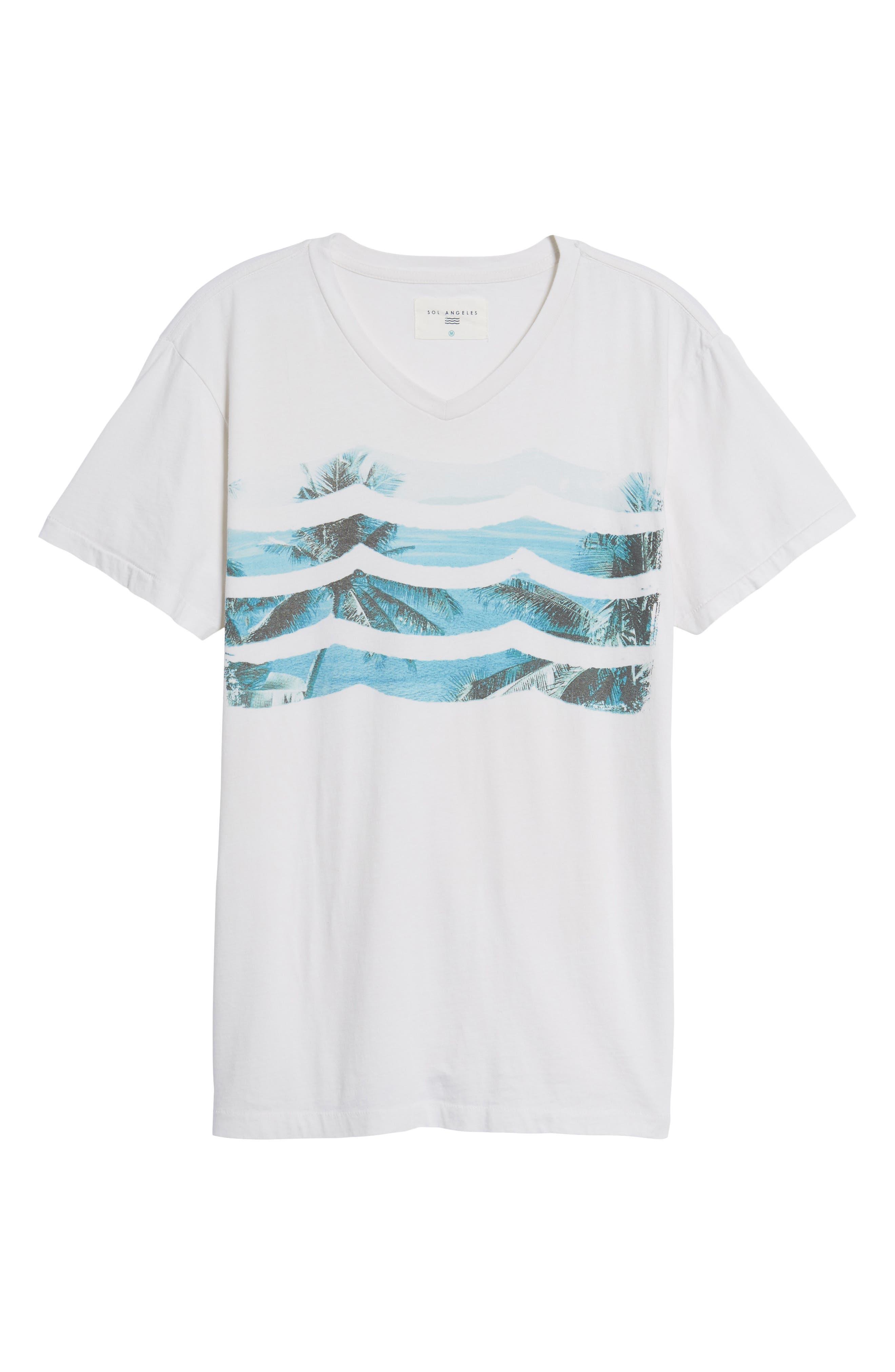 Vista Del Mar T-Shirt,                             Alternate thumbnail 6, color,                             110
