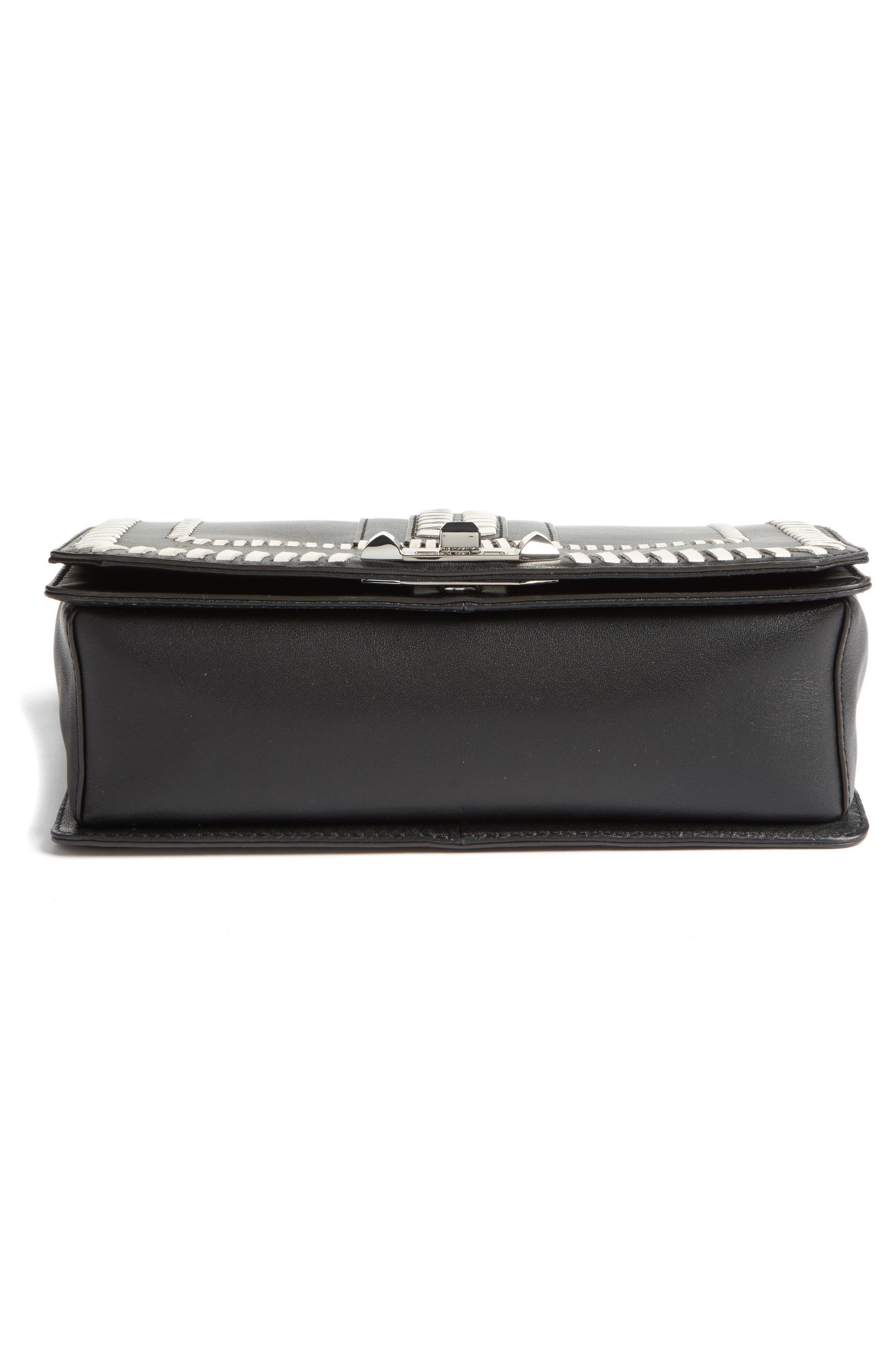 Love Leather Convertible Crossbody Bag,                             Alternate thumbnail 6, color,                             001