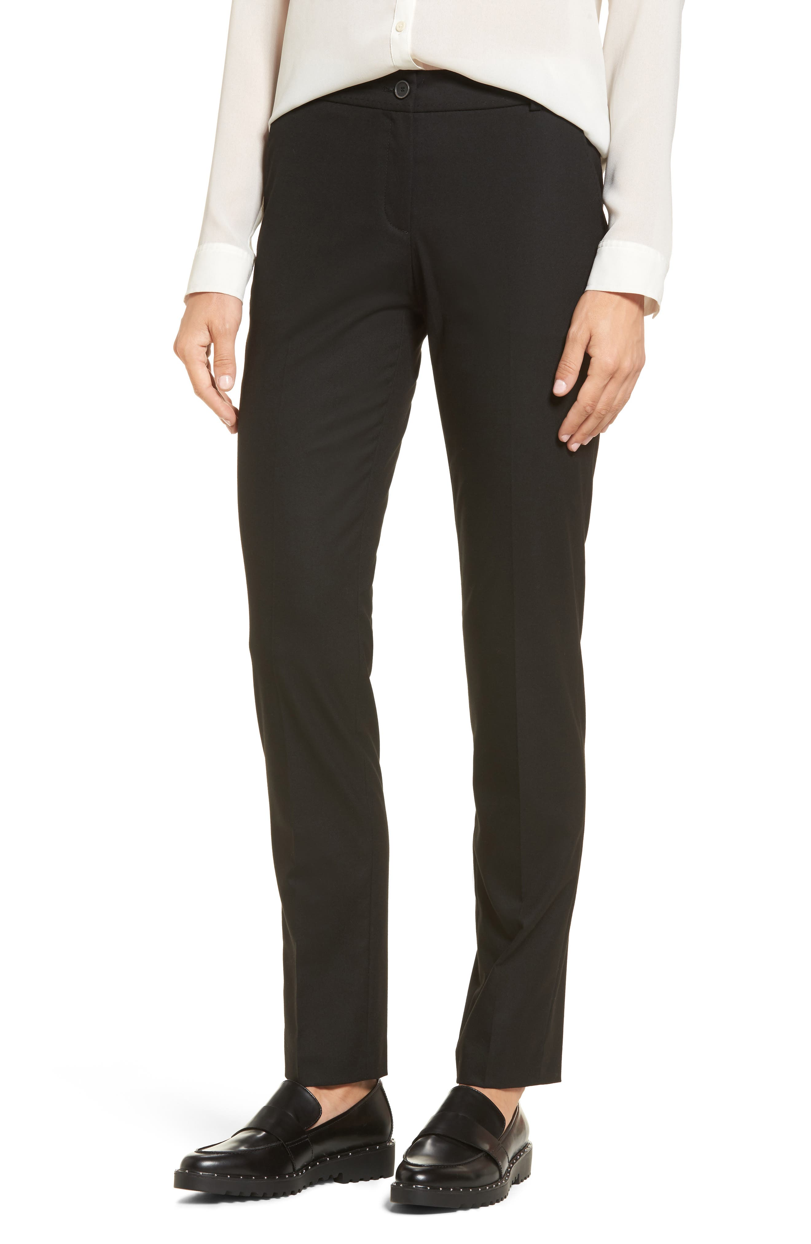 Straight Leg Trousers,                         Main,                         color, 002