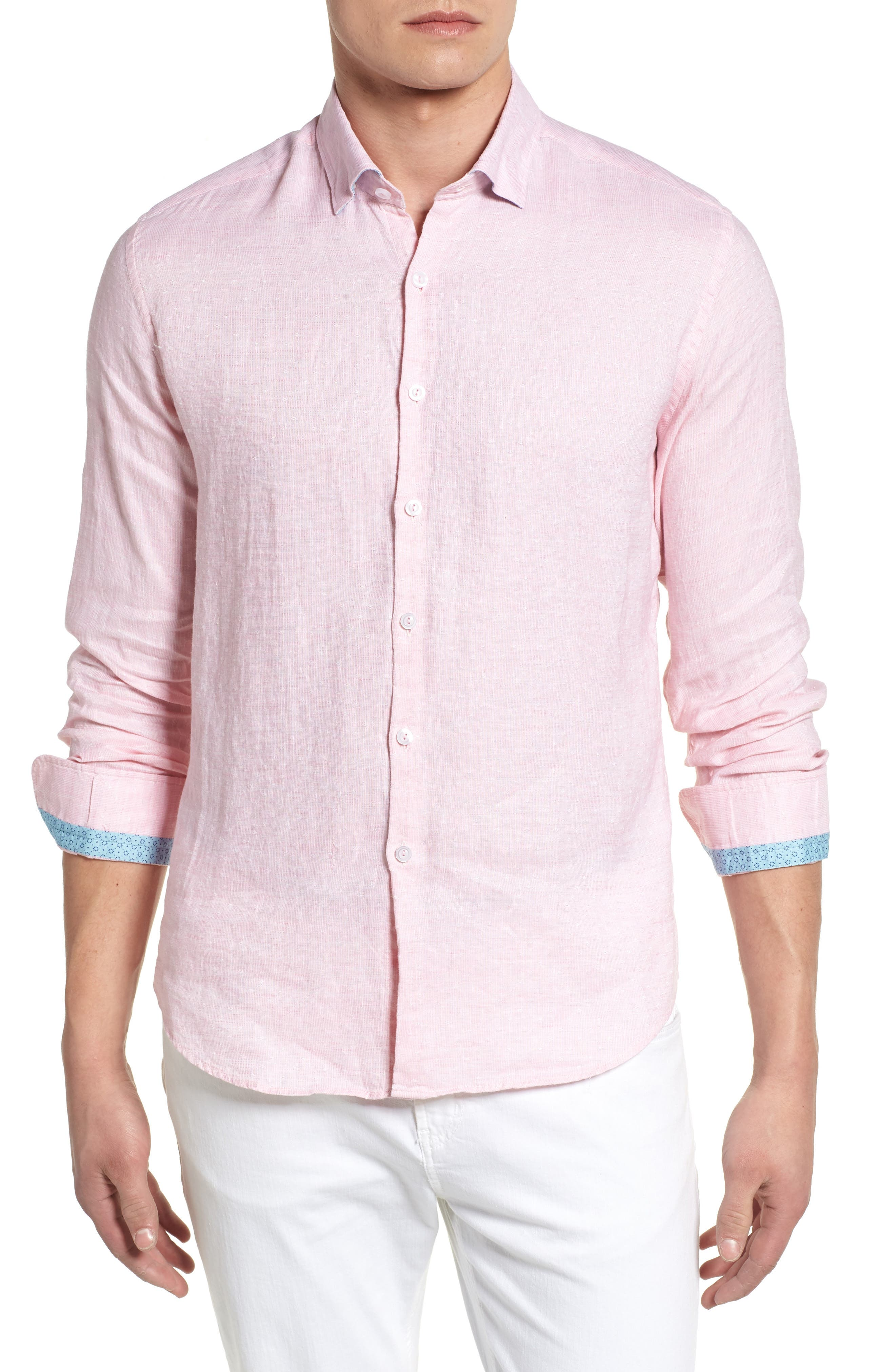 Linen Blend Sport Shirt,                             Main thumbnail 3, color,