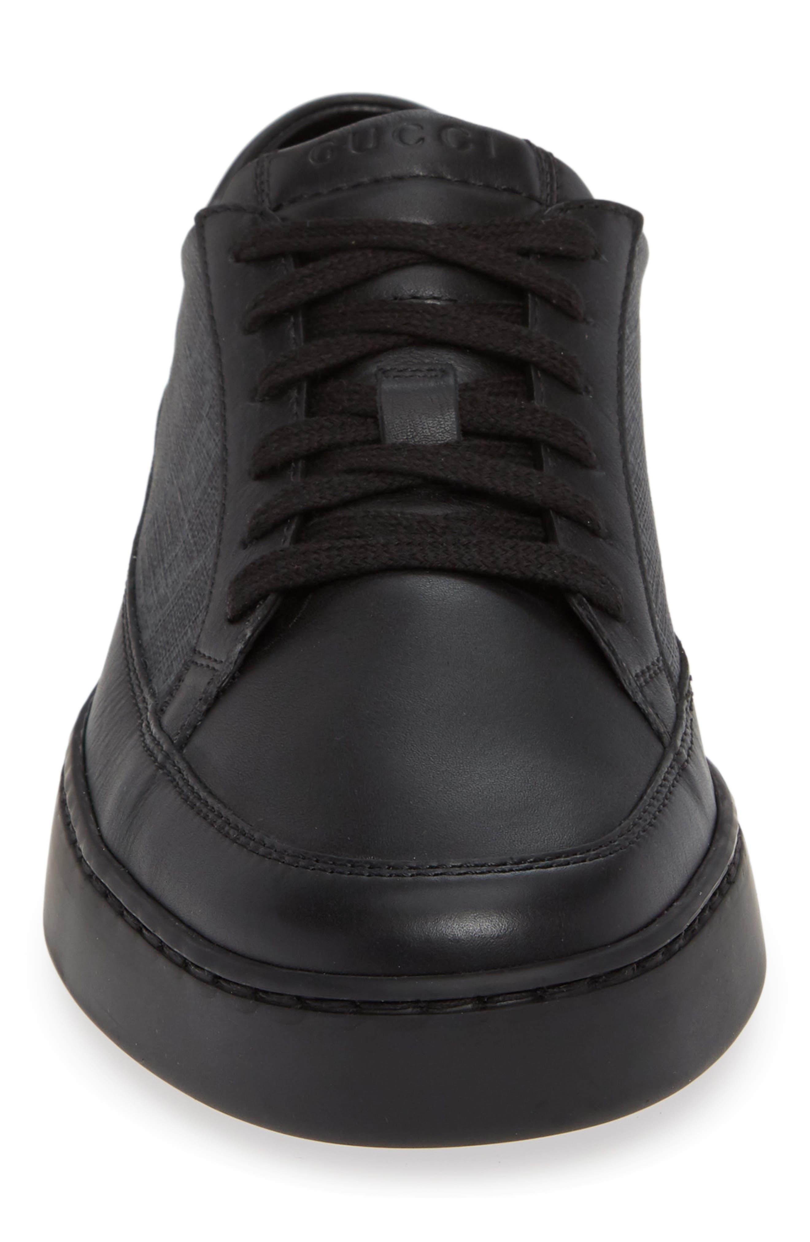 'Common' Low-Top Sneaker,                             Alternate thumbnail 4, color,                             NERO/ BLACK