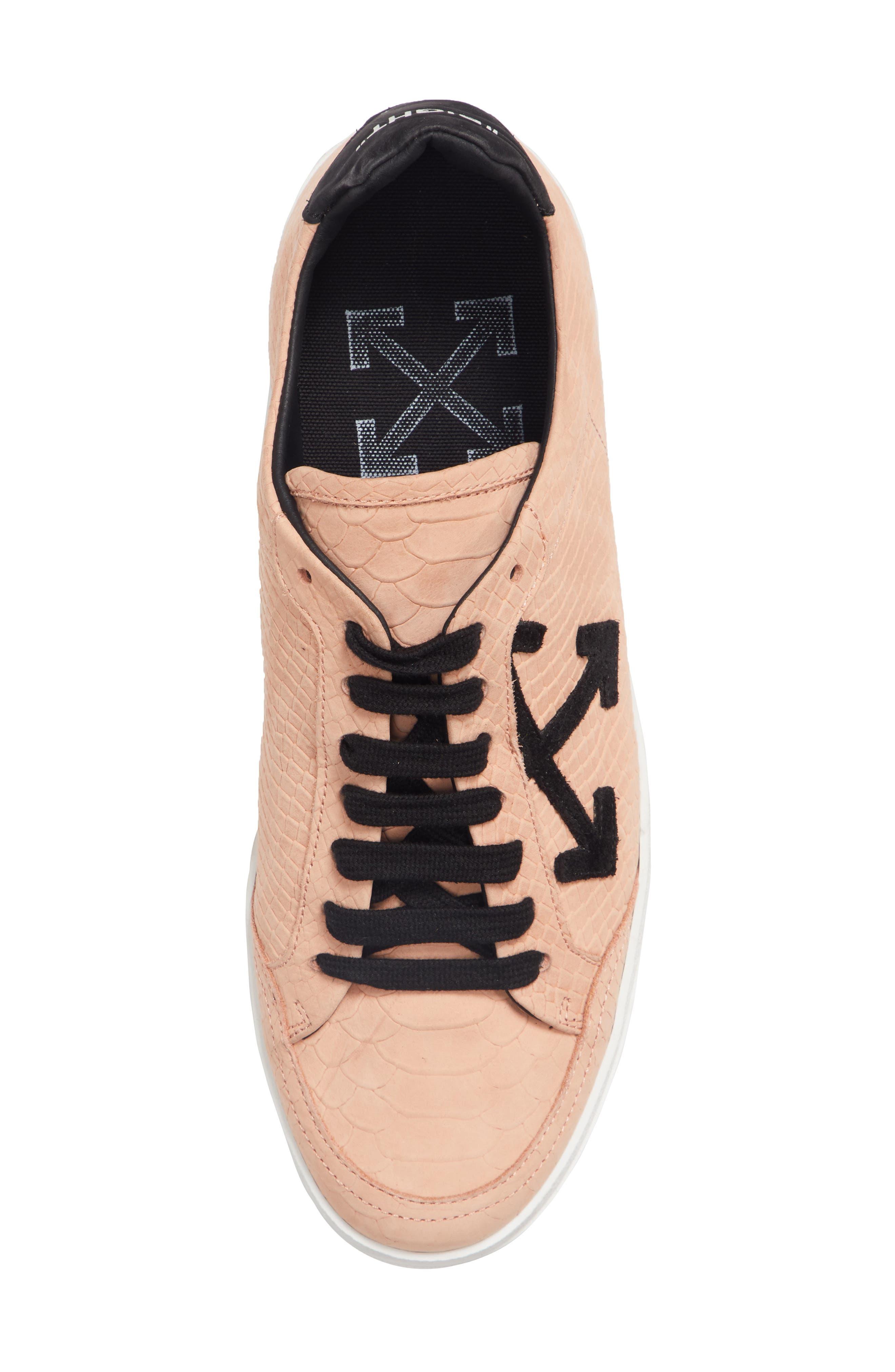 Arrow Sneaker,                             Alternate thumbnail 5, color,                             SALMON BLACK