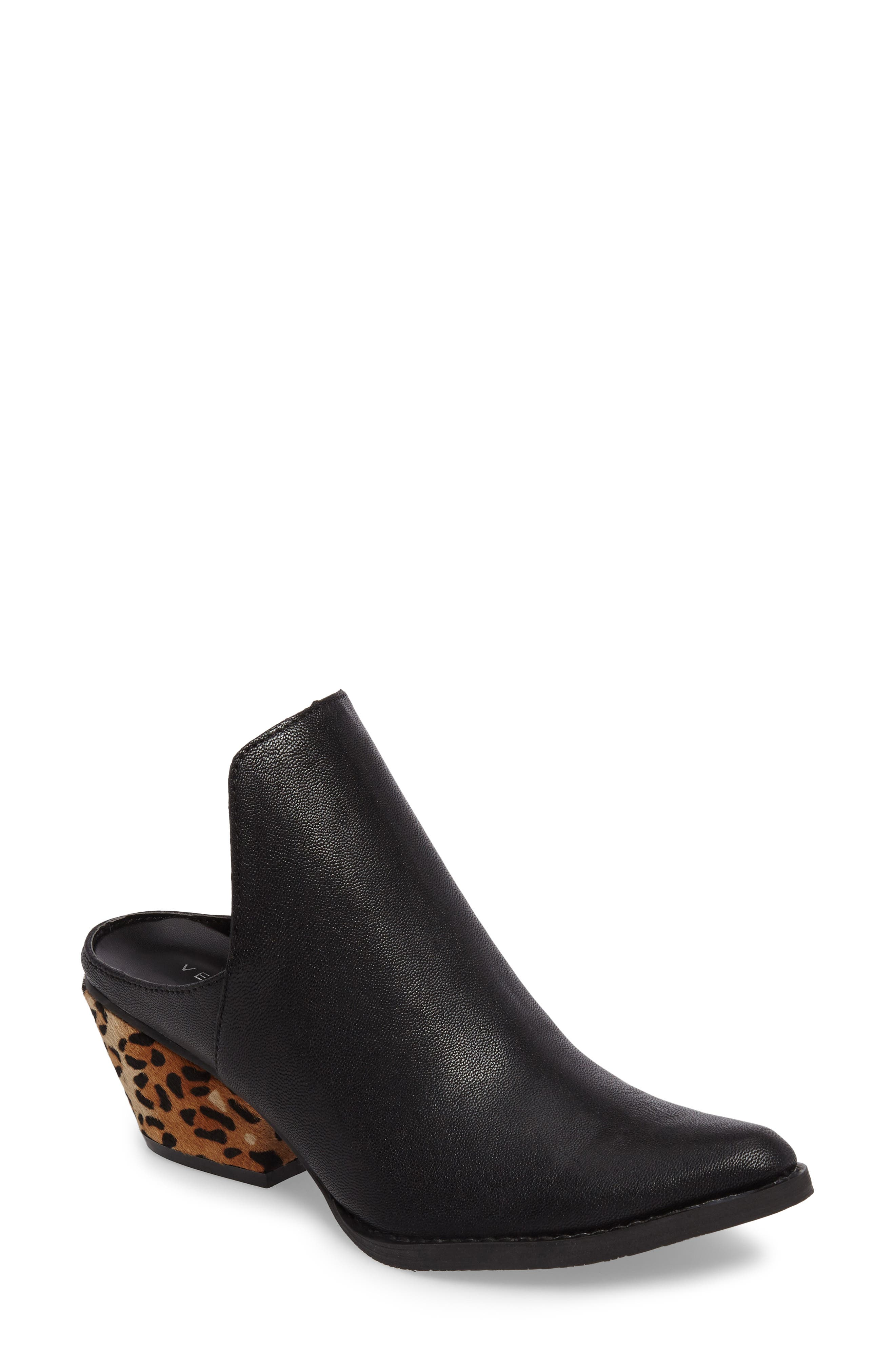Chicas Genuine Calf Hair & Leather Mule,                         Main,                         color, 001