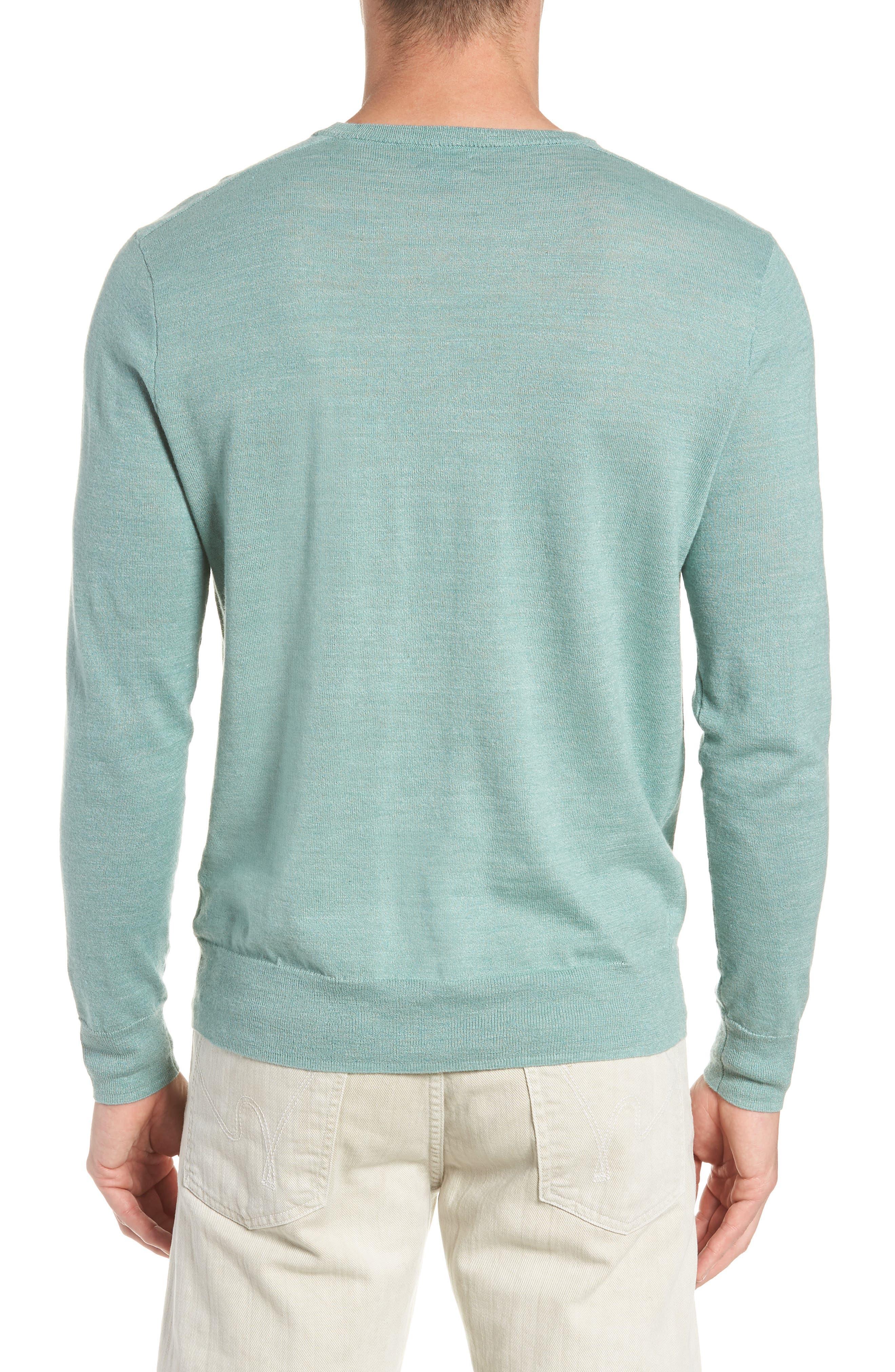 Cotton Blend Crewneck Sweater,                             Alternate thumbnail 6, color,