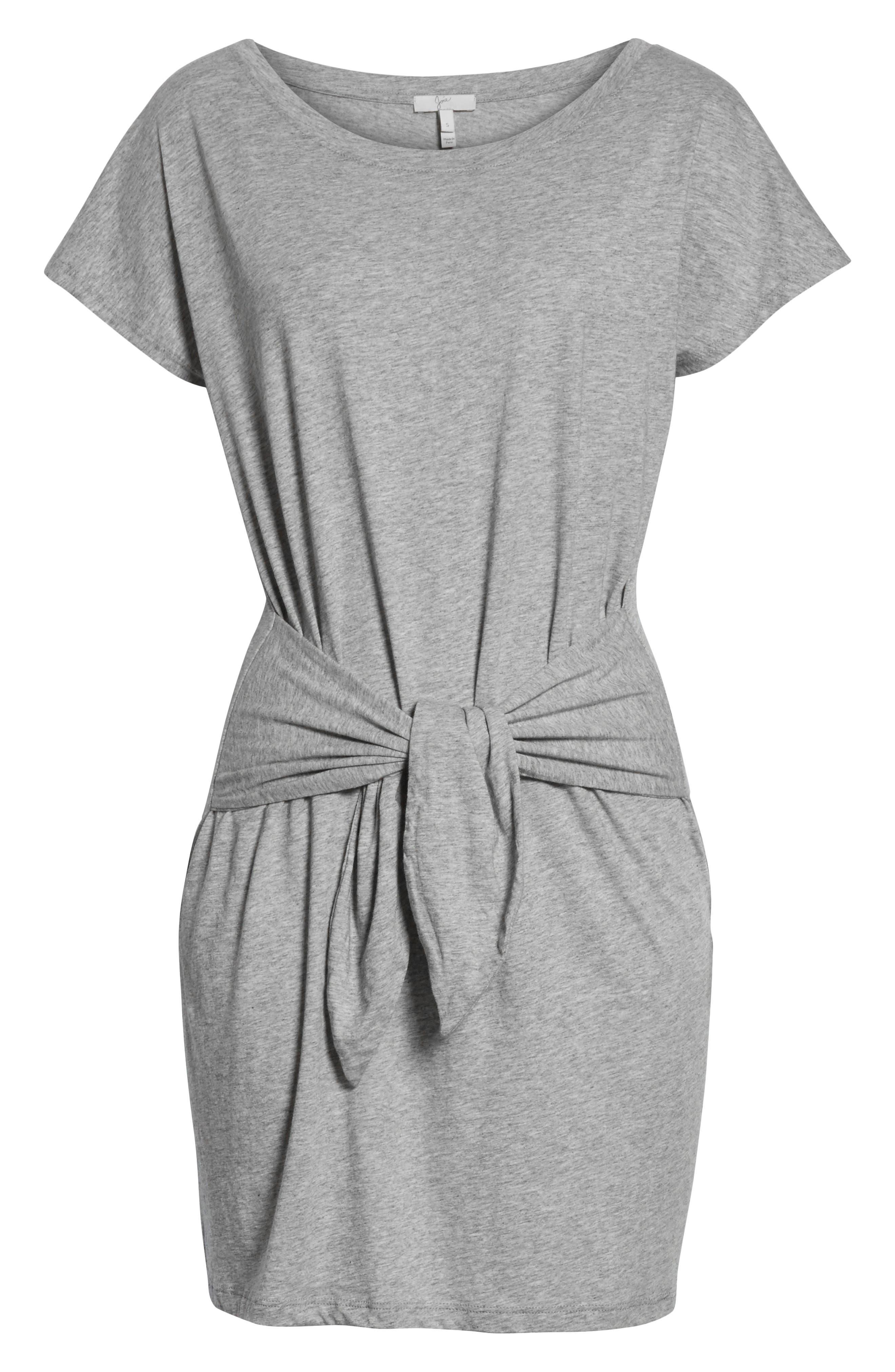 Alyra Tie Waist Cotton T-Shirt Dress,                             Alternate thumbnail 7, color,                             030