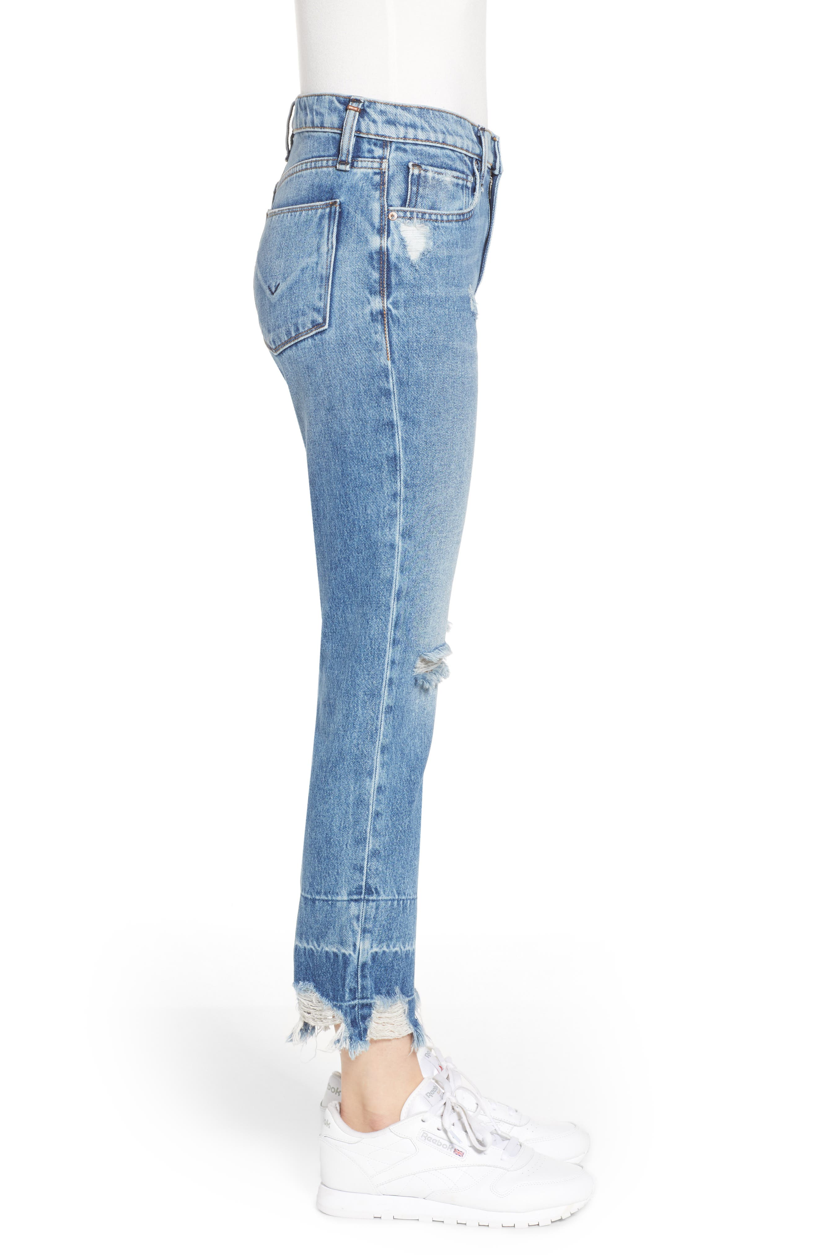 HUDSON JEANS,                             Jessi Ripped Boyfriend Jeans,                             Alternate thumbnail 3, color,                             OVERSHADOW