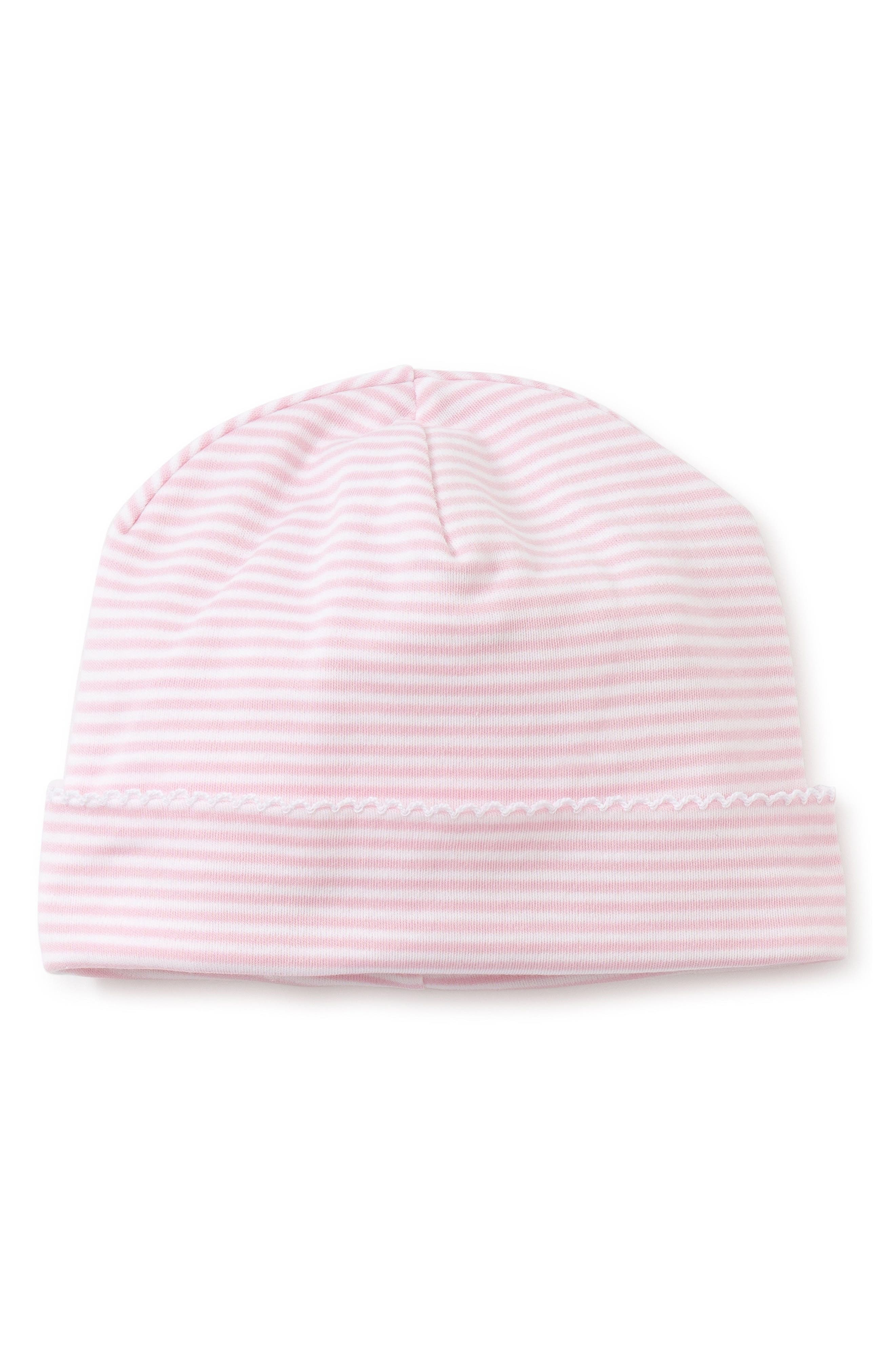 Simple Stripes Beanie Hat,                             Main thumbnail 1, color,                             PINK