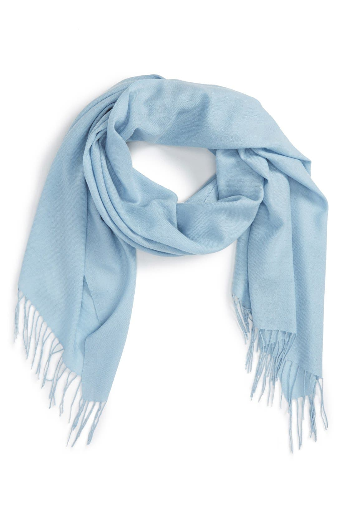 Tissue Weight Wool & Cashmere Scarf,                             Main thumbnail 32, color,