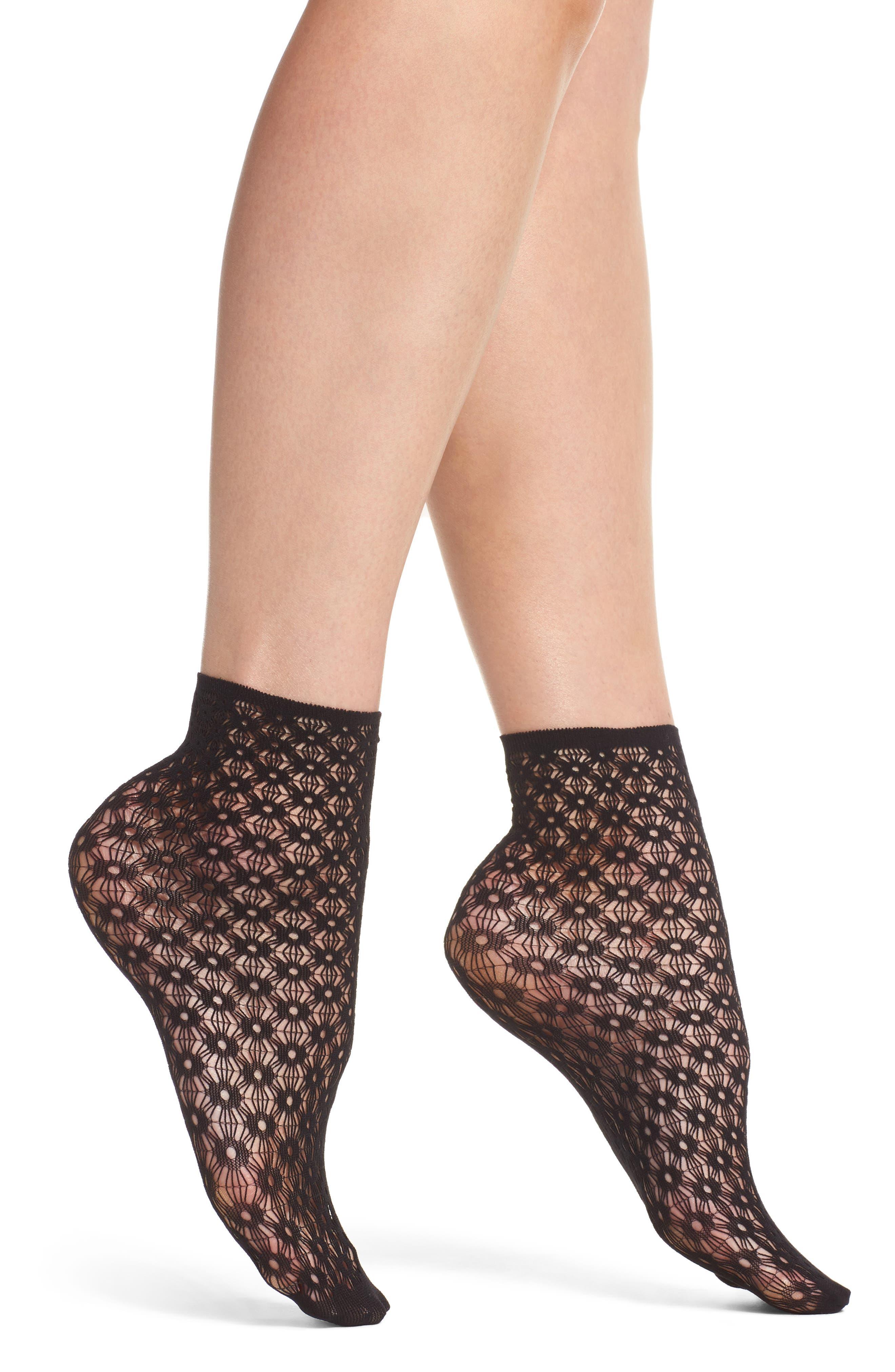 Elisa Ankle Socks,                             Main thumbnail 1, color,                             001