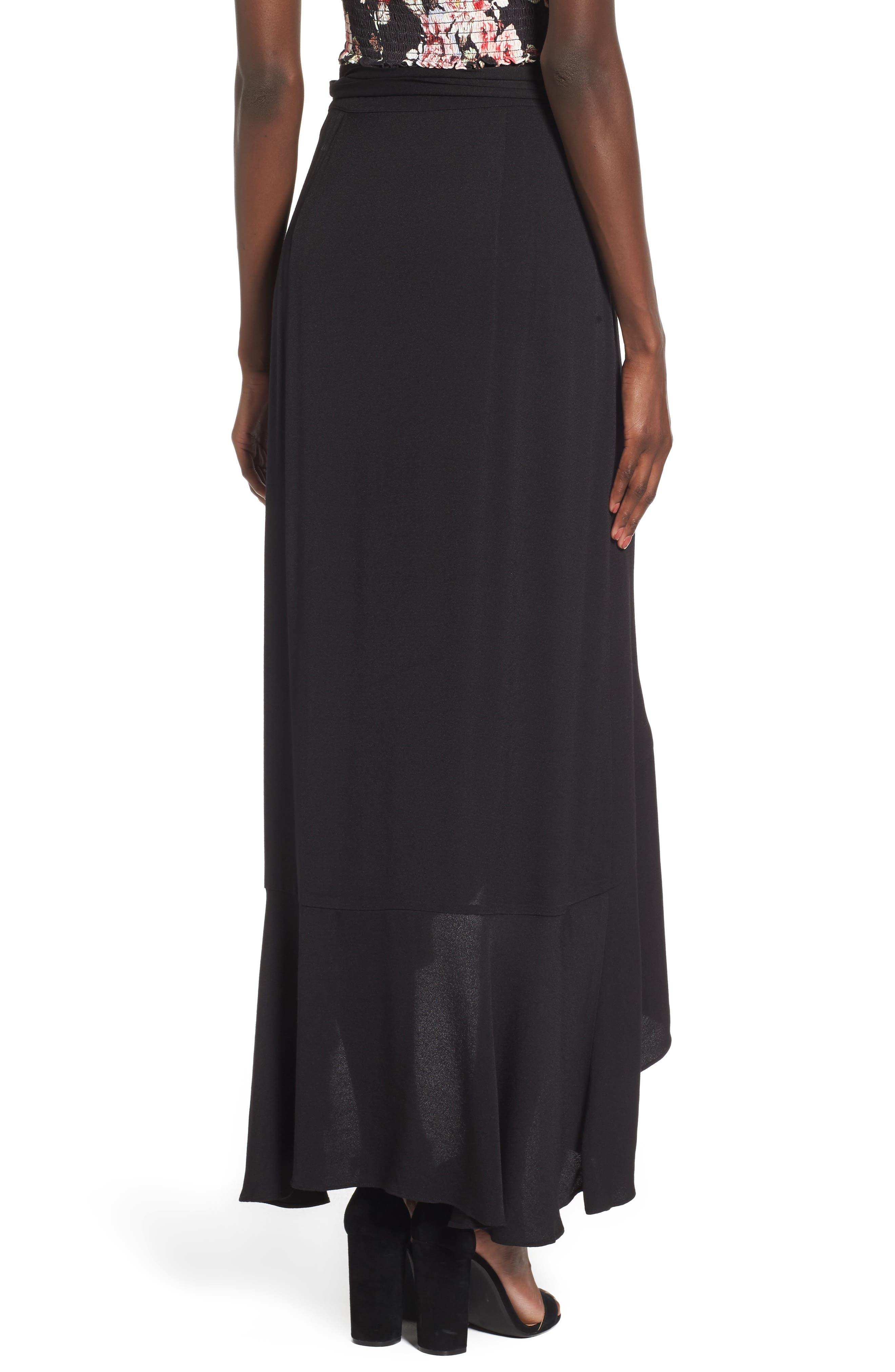 Amelia Ruffle Wrap Skirt,                             Alternate thumbnail 2, color,                             001