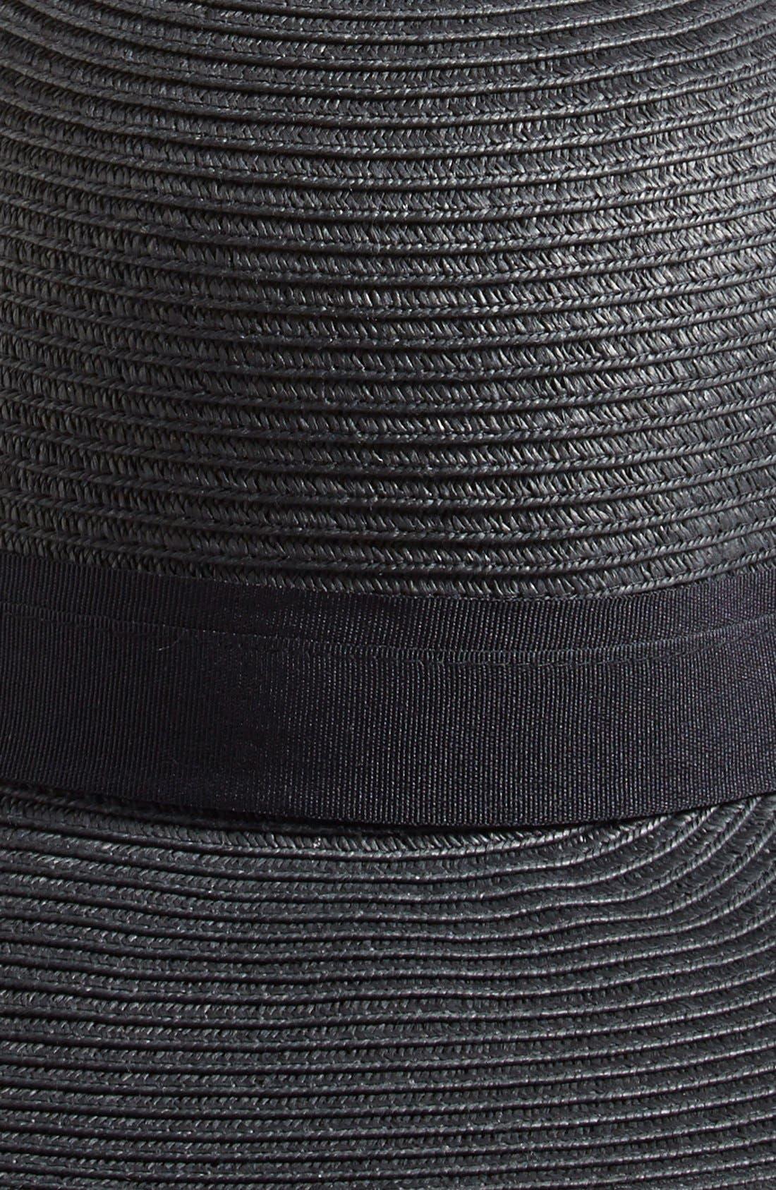 Asymmetrical Brim Floppy Hat,                             Alternate thumbnail 2, color,                             001