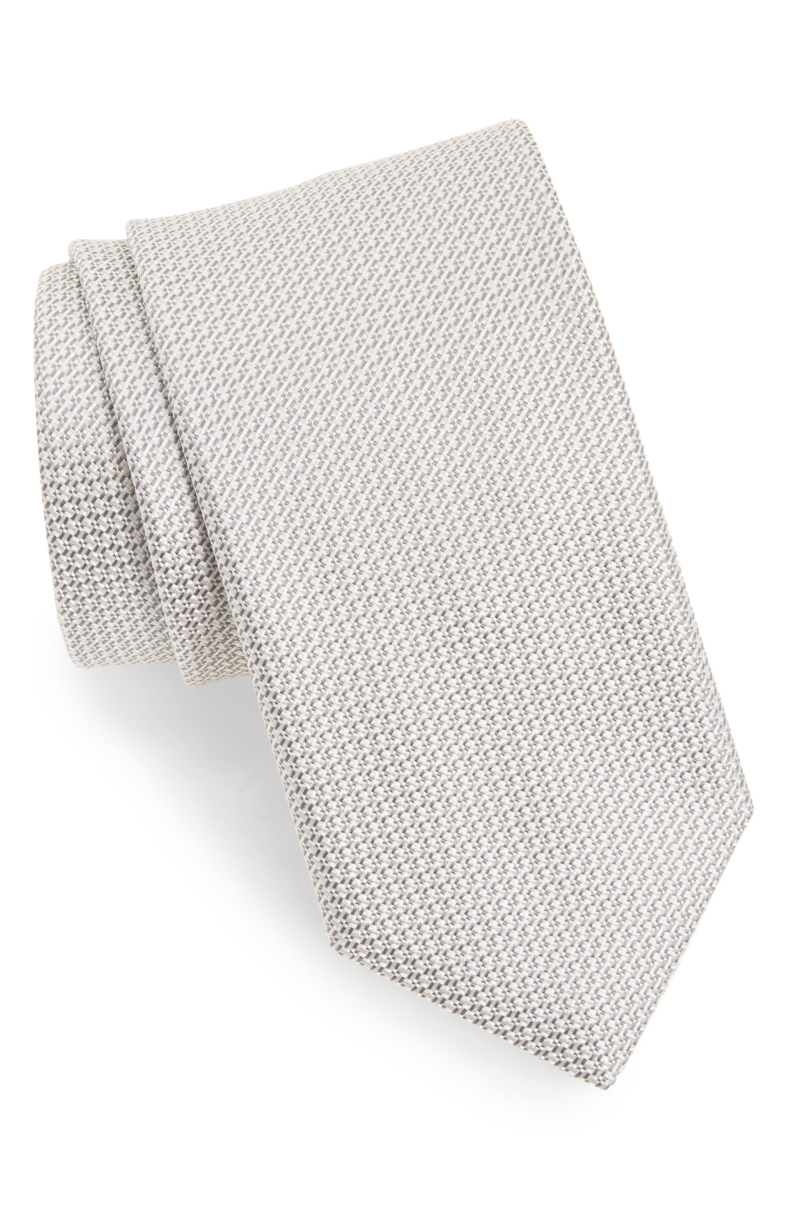Solid Silk Tie,                         Main,                         color, 039