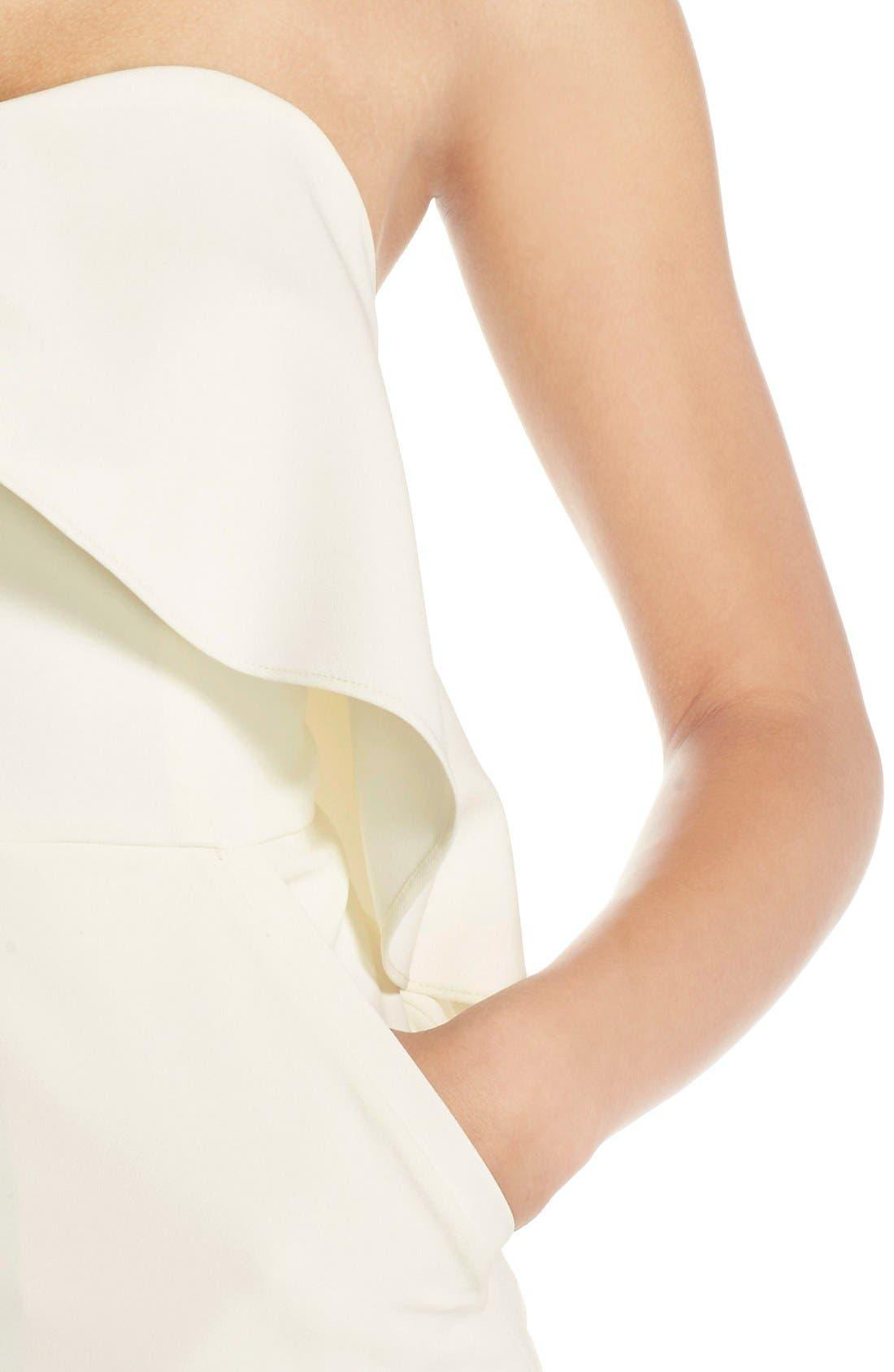 Ruffle Stretch Crepe Sheath Dress,                             Alternate thumbnail 24, color,