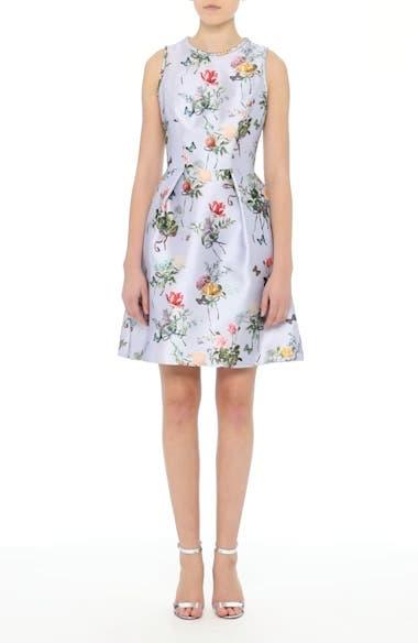 Botantical Print Structured Twill Dress, video thumbnail