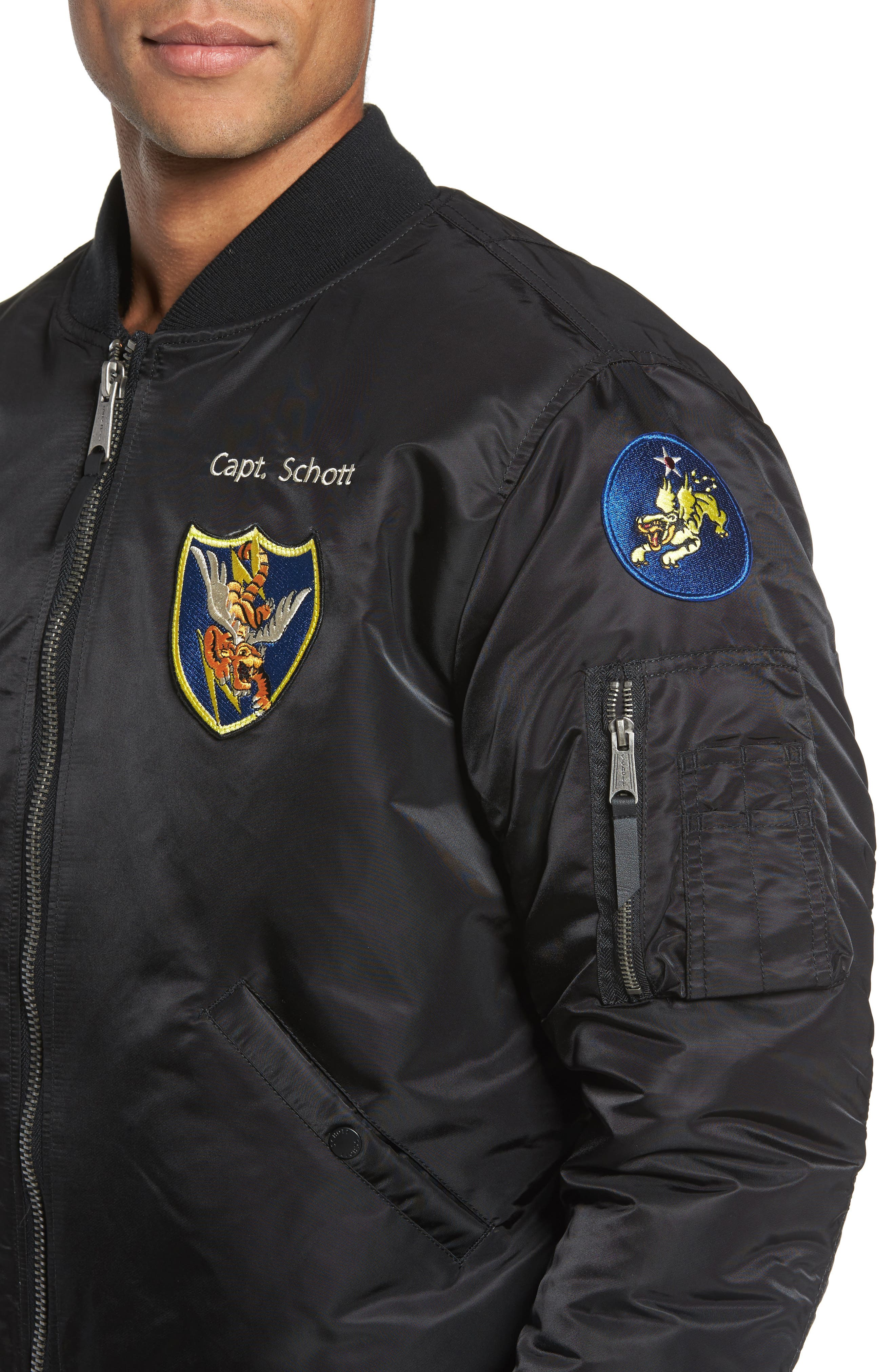 Highly Decorated Embroidered Flight Jacket,                             Alternate thumbnail 7, color,