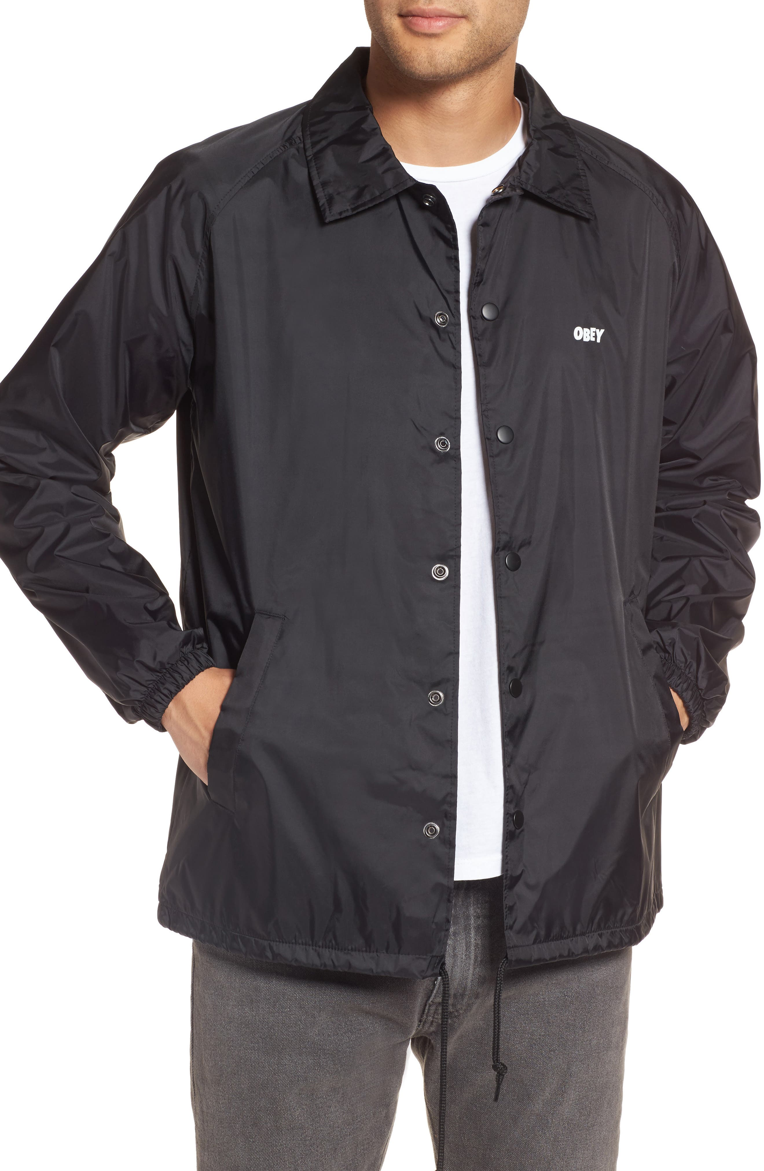 Lo-Fi Graphic Coach's Jacket,                             Main thumbnail 1, color,                             001