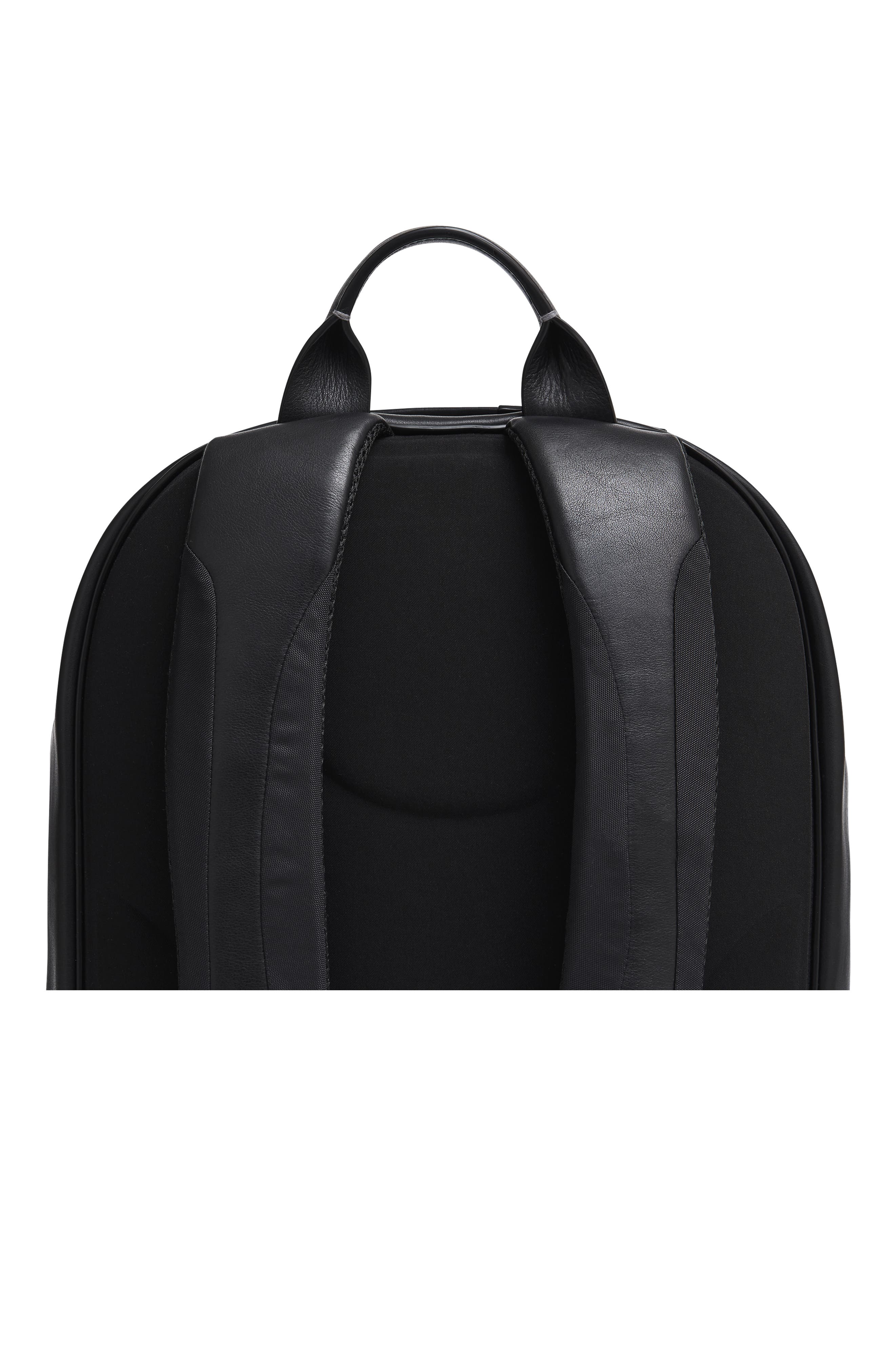 Leather Backpack,                             Alternate thumbnail 11, color,                             BLACK LEATHER