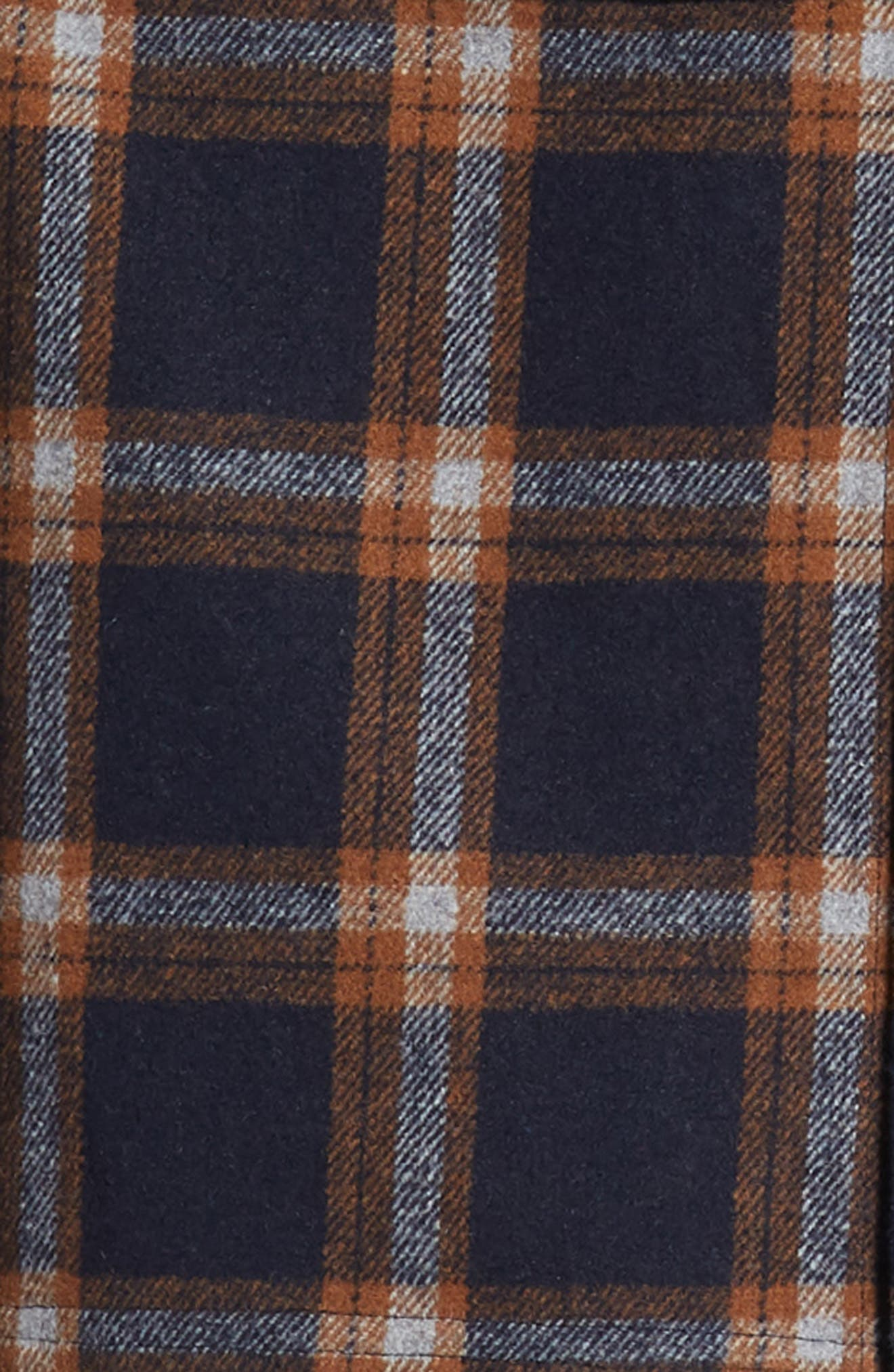 NATIVE YOUTH,                             Check Flannel Shirt,                             Alternate thumbnail 6, color,                             NAVY