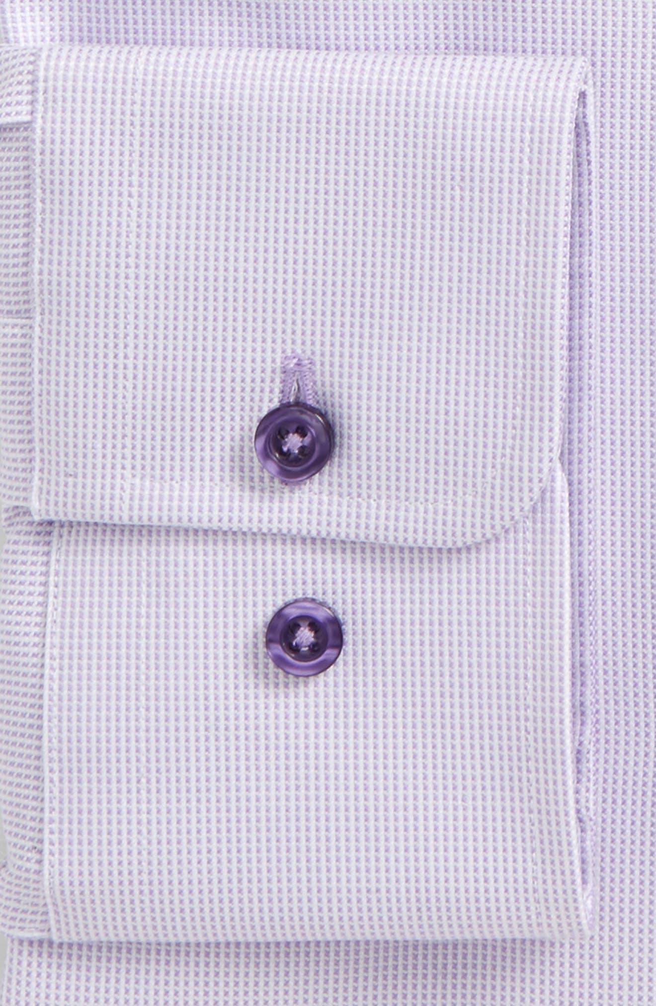 Slim Fit Check Dress Shirt,                             Alternate thumbnail 2, color,                             LILAC