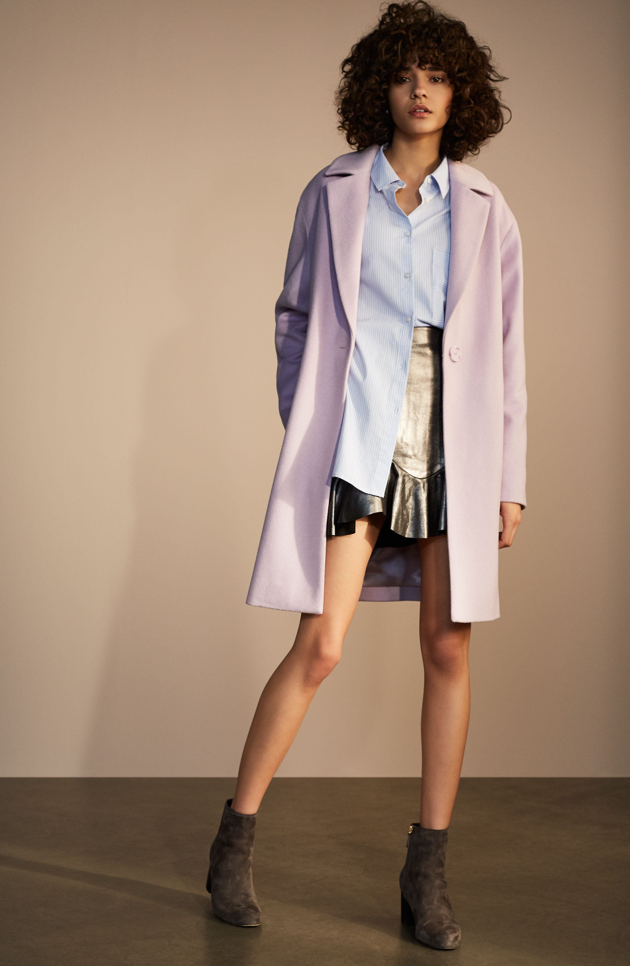 Wool Blend Coat,                             Alternate thumbnail 7, color,                             001