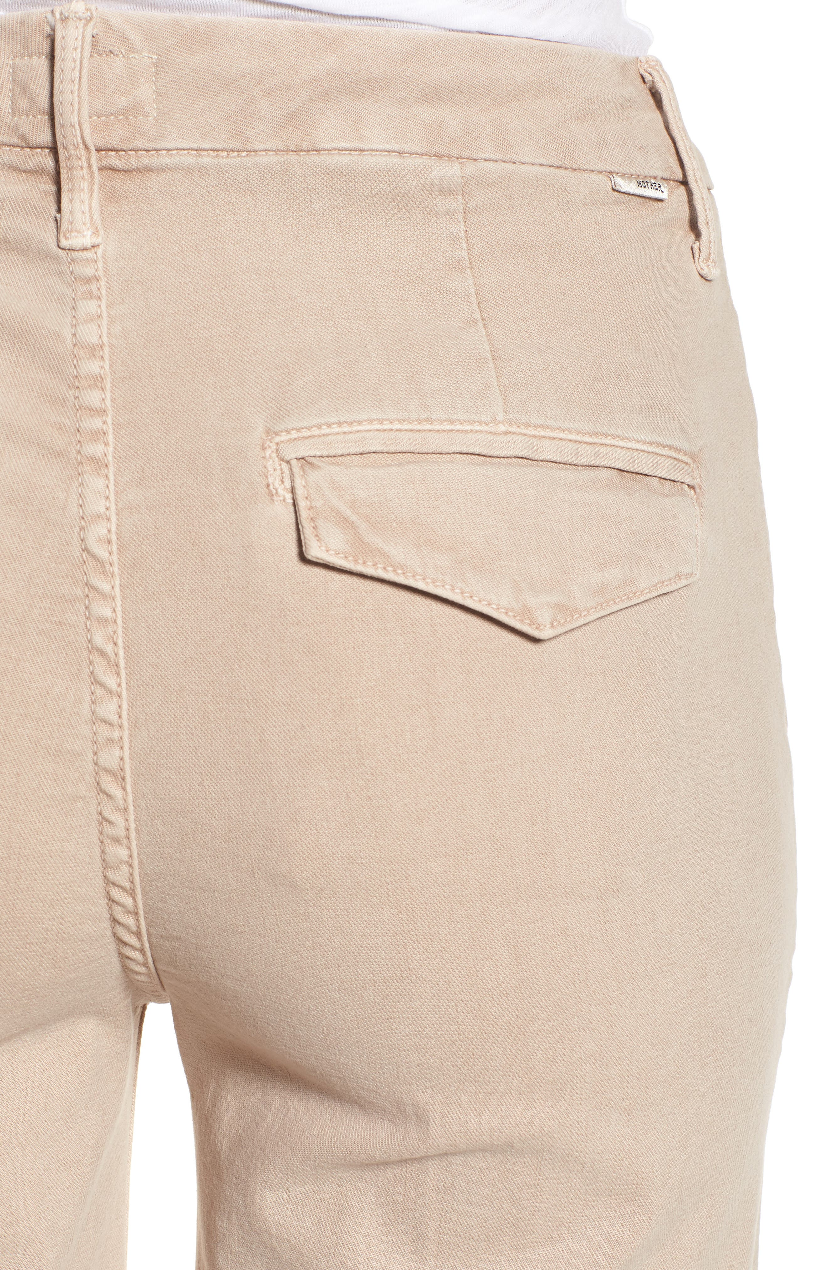 The Roller Fray Crop Wide Leg Jeans,                             Alternate thumbnail 4, color,                             250