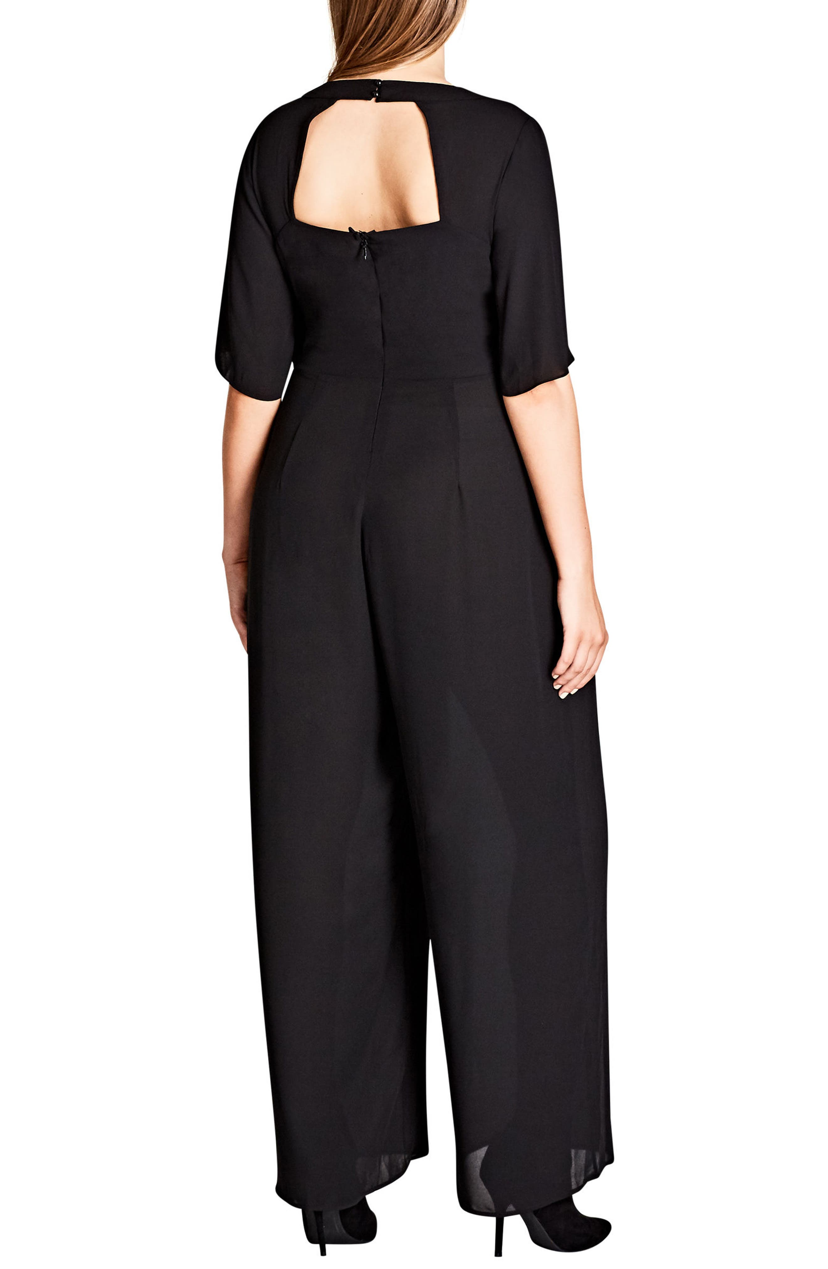 Front Twist Jumpsuit,                             Alternate thumbnail 2, color,                             001