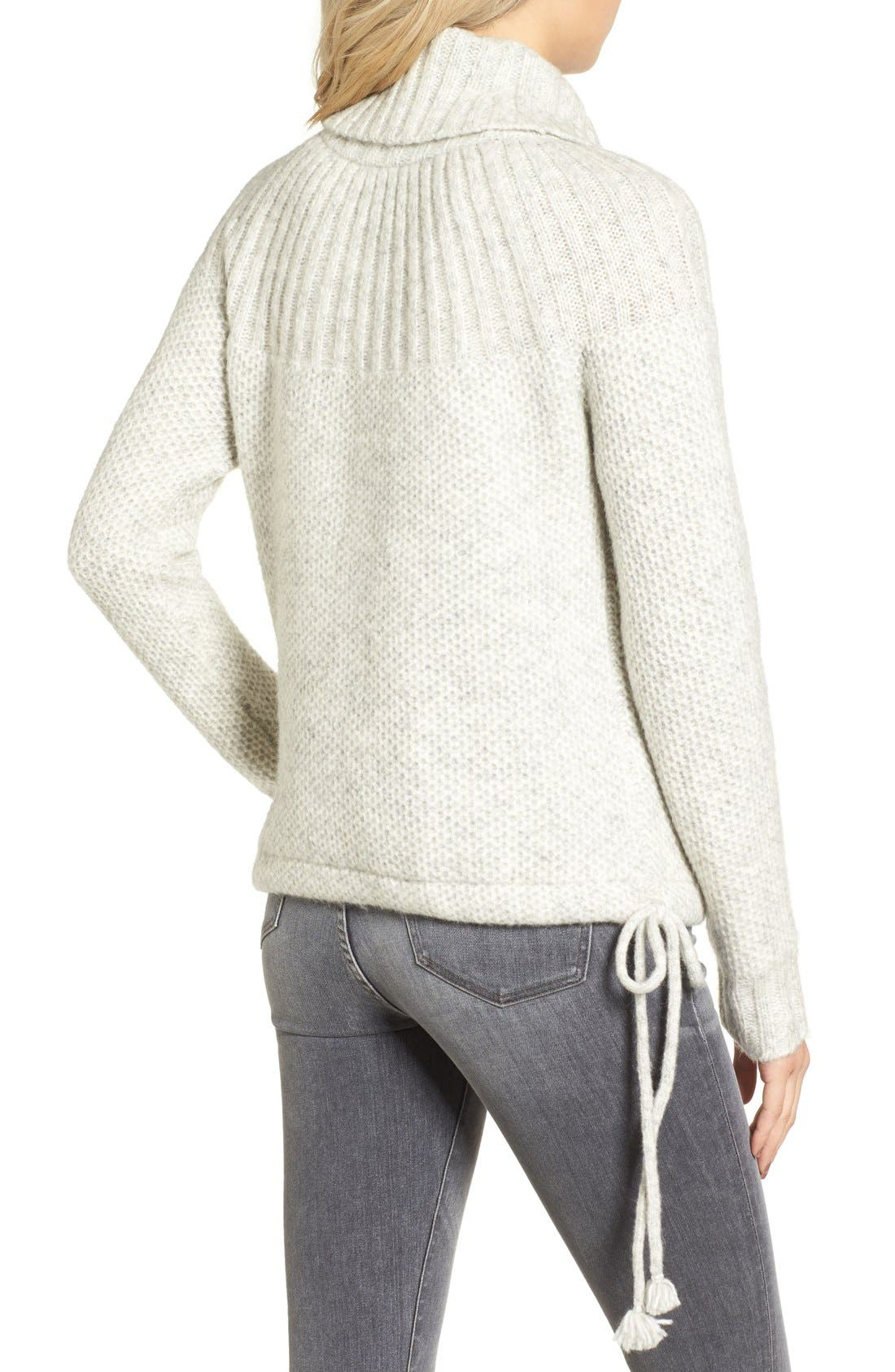 Drawcord Cowl Sweater,                             Alternate thumbnail 6, color,                             020