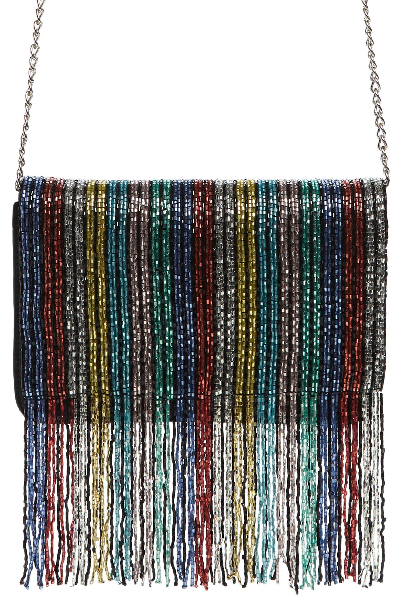 Duane Beaded Clutch,                             Main thumbnail 1, color,                             RAINBOW MULTI