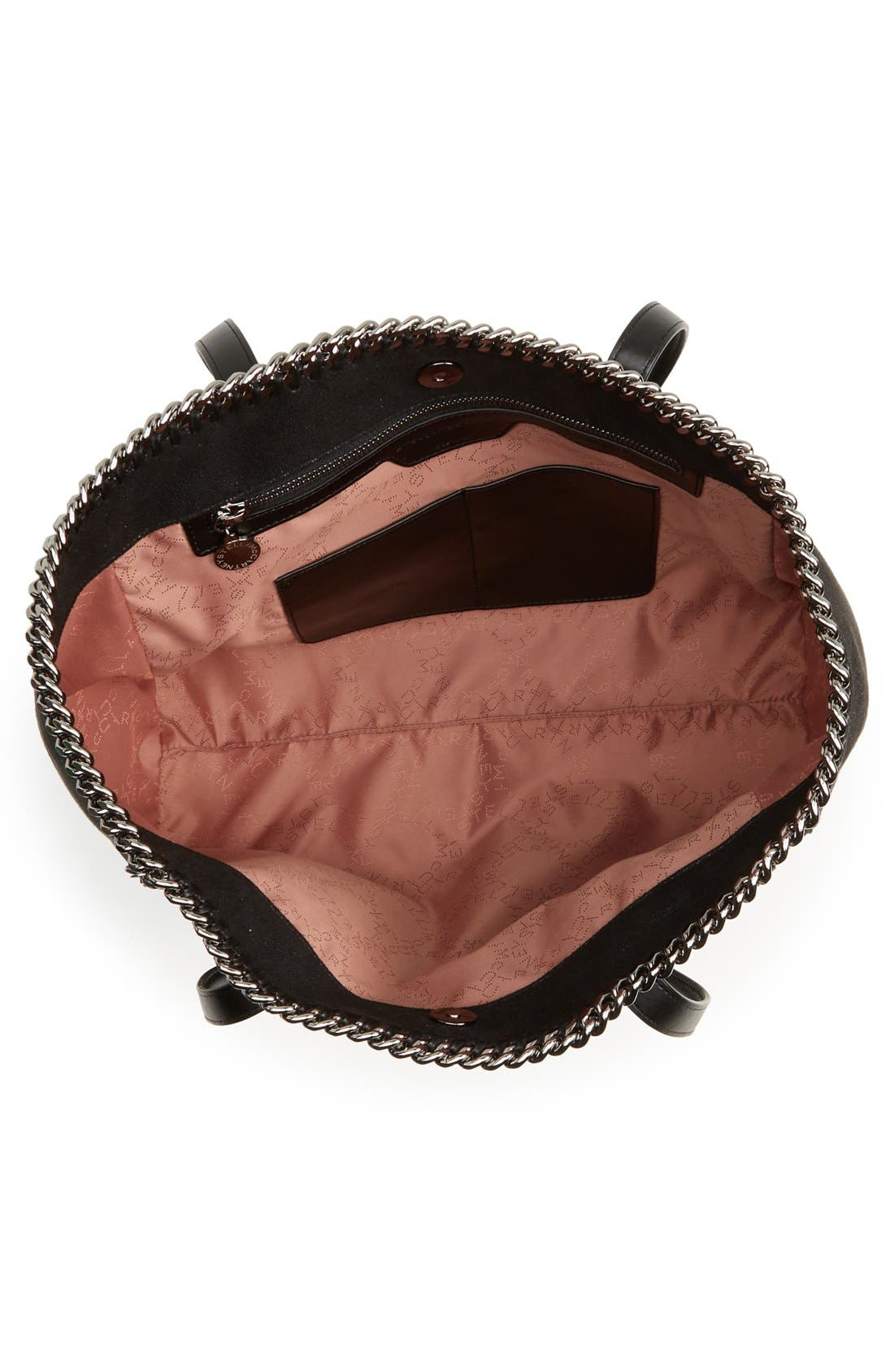 'Falabella - Shaggy Deer' Faux Leather Tote,                             Alternate thumbnail 2, color,                             001
