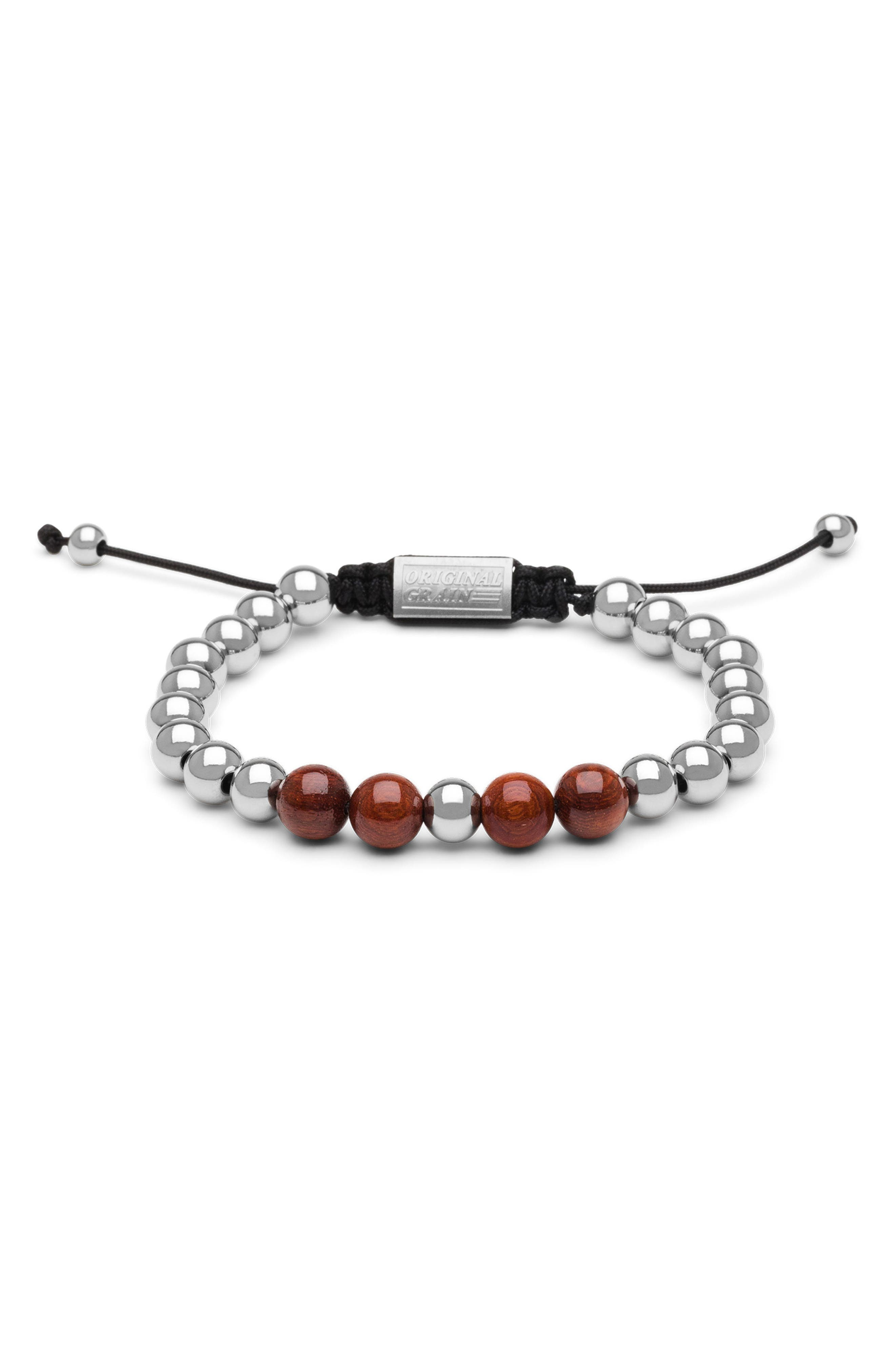 Bead Bracelet,                         Main,                         color, ROSEWOOD CHROME