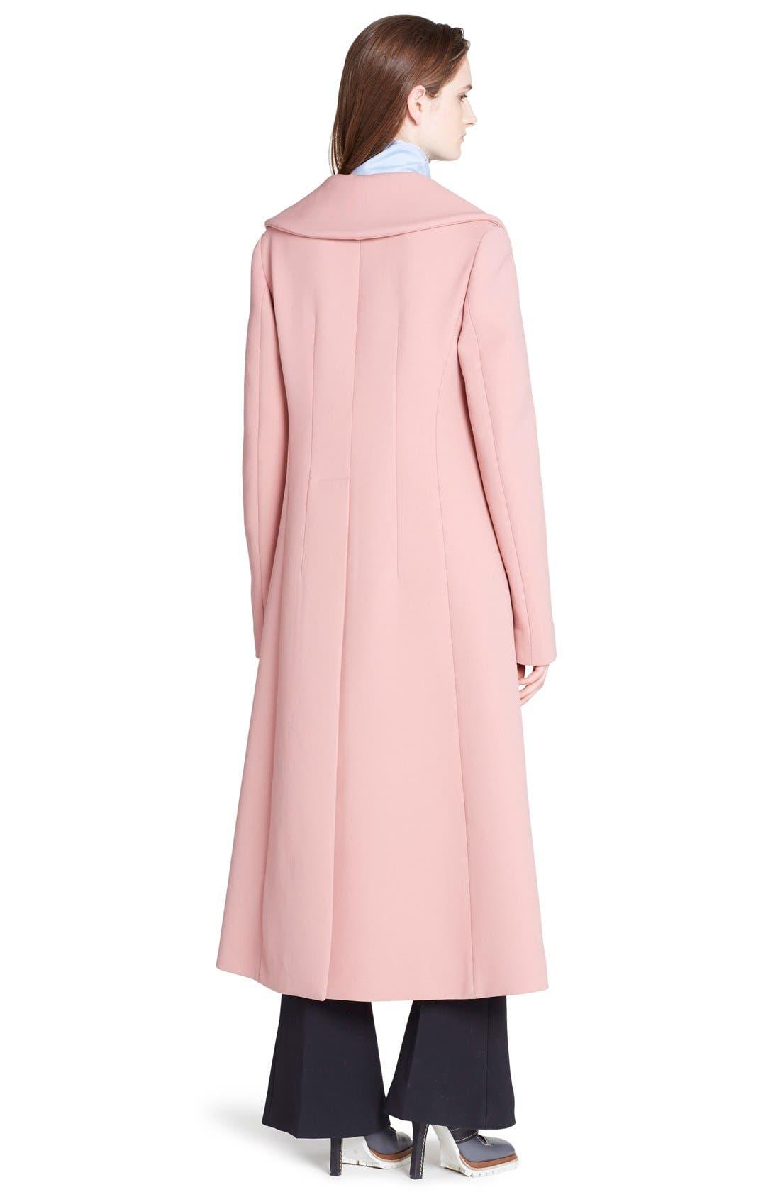 MARNI,                             Wide Lapel Wool Blend Coat,                             Alternate thumbnail 2, color,                             650