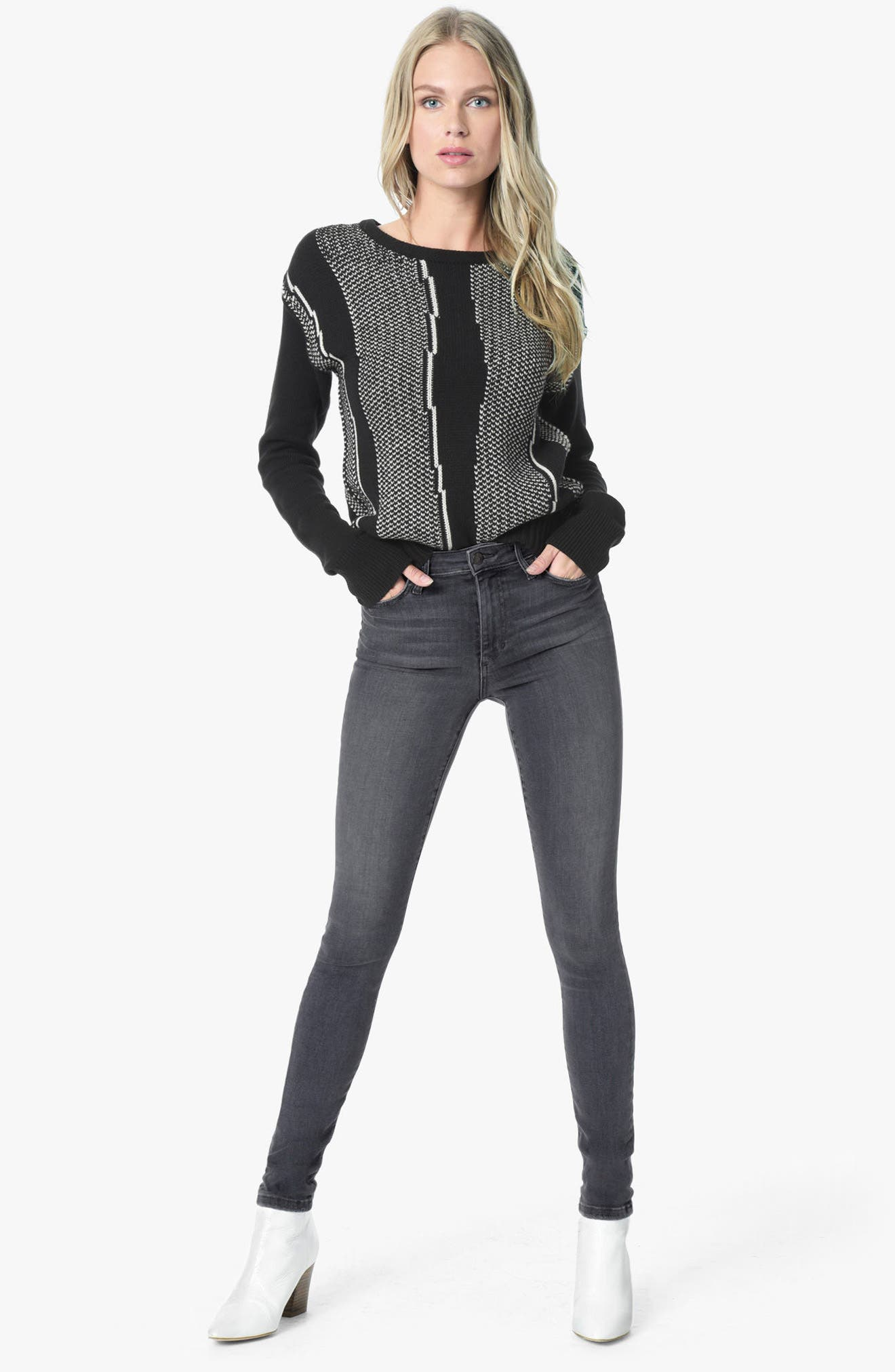 Flawless - Charlie High Waist Skinny Jeans,                             Alternate thumbnail 4, color,                             027