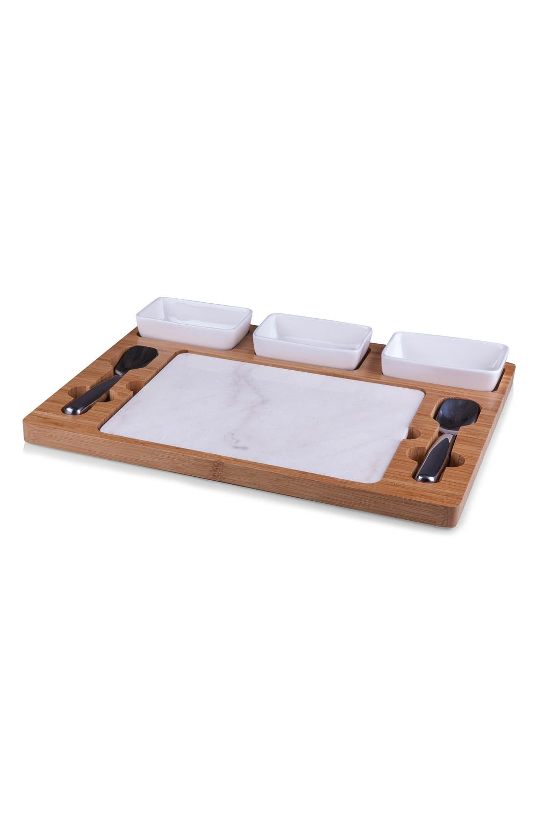 'Parlor' Ice Cream Mixing Set,                             Alternate thumbnail 5, color,                             BROWN