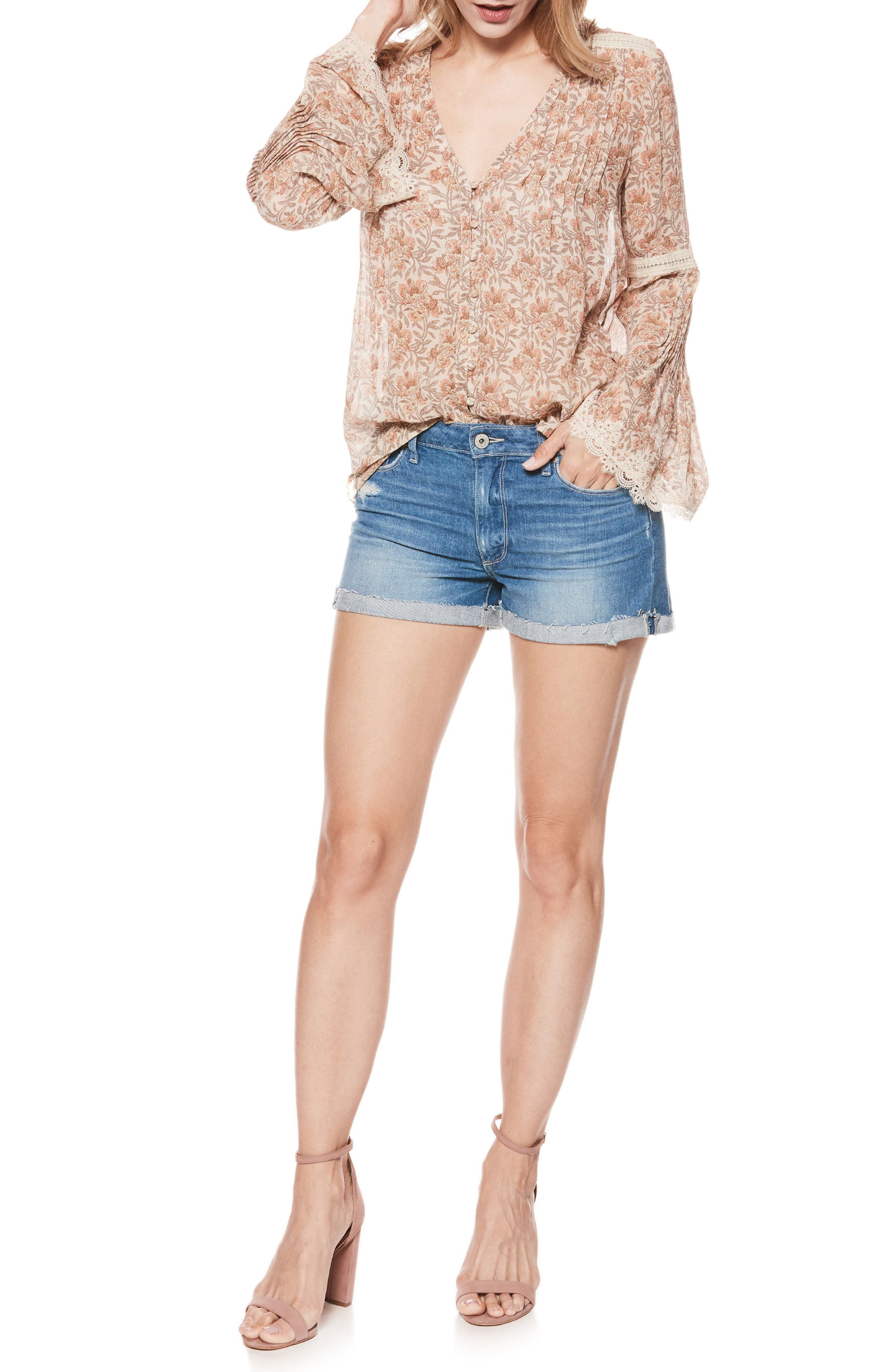Jimmy Jimmy Cutoff Denim Shorts,                             Alternate thumbnail 4, color,                             FINNICK DESTRUCTED