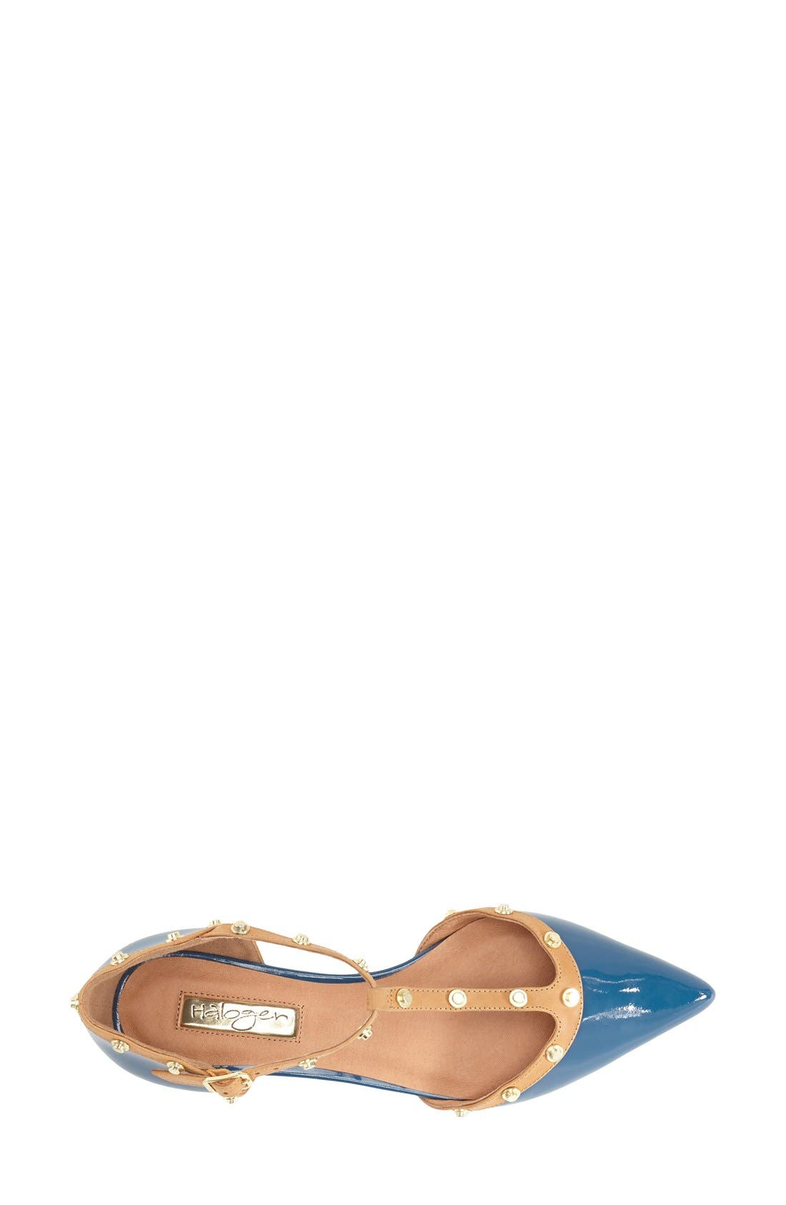 'Olson' Pointy Toe Studded T-Strap Flat,                             Alternate thumbnail 43, color,
