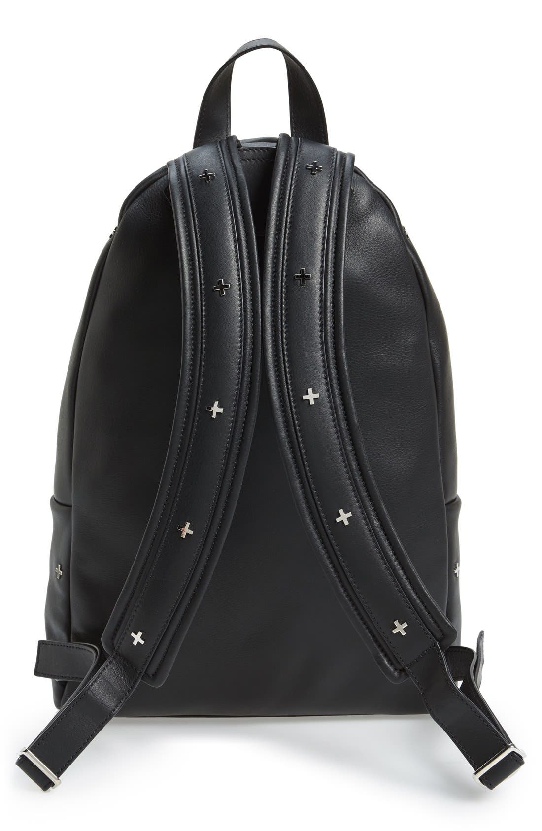 GIVENCHY,                             Metal Cross Embellished Calfskin Leather Backpack,                             Alternate thumbnail 3, color,                             001