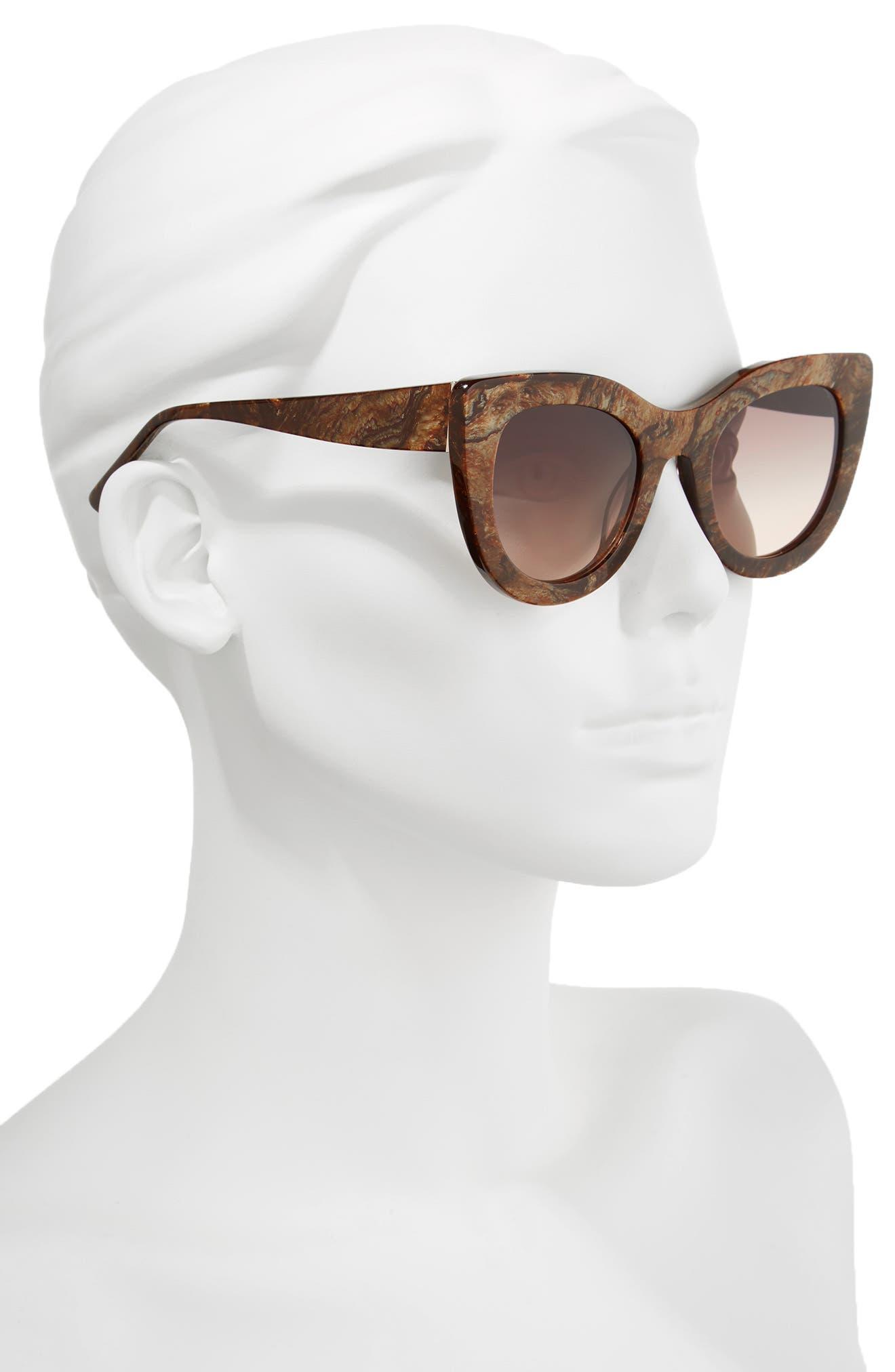 Delancey 51mm Cat Eye Sunglasses,                             Alternate thumbnail 4, color,