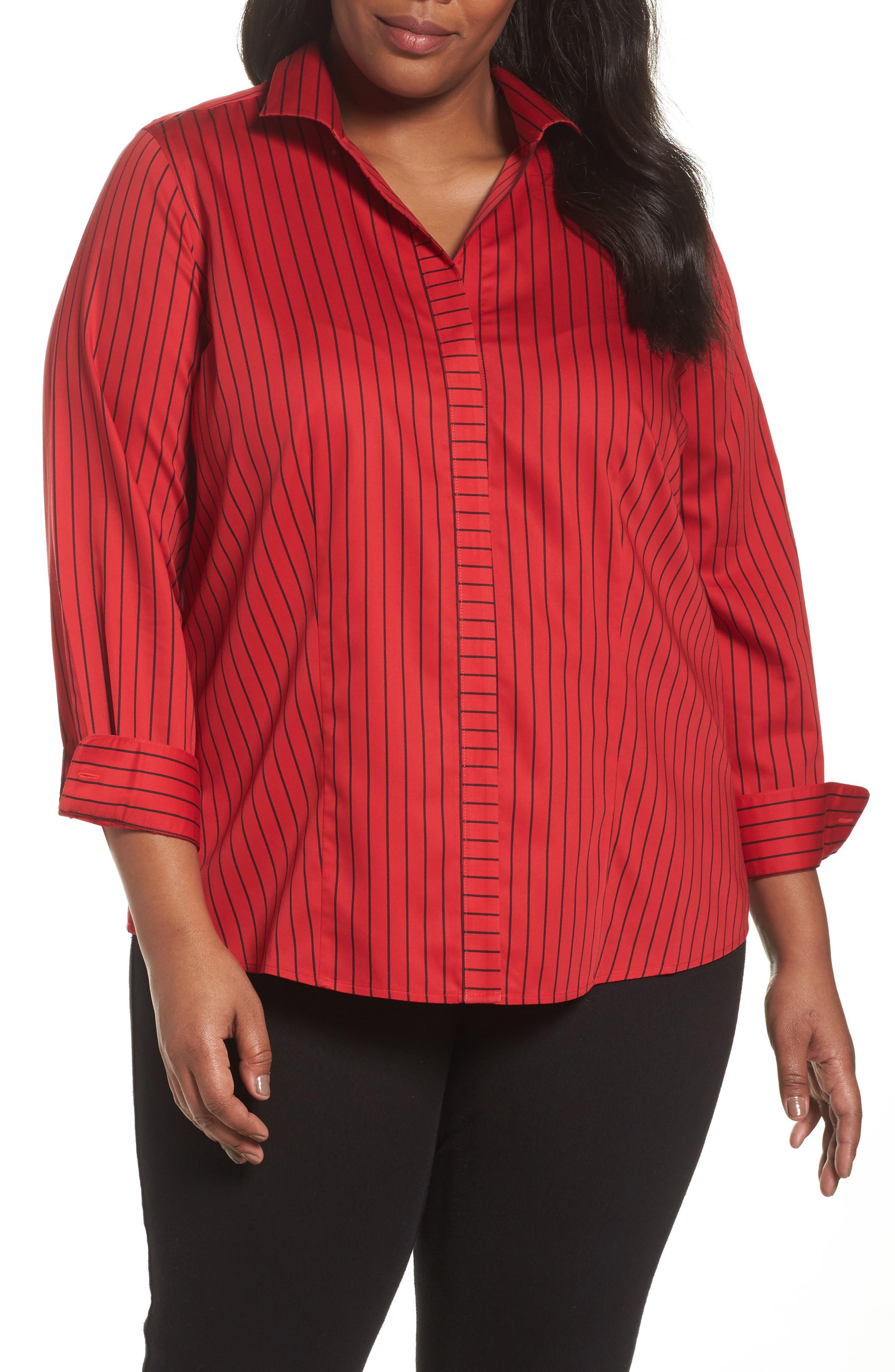 Annie Holiday Stripe Shirt,                             Main thumbnail 2, color,