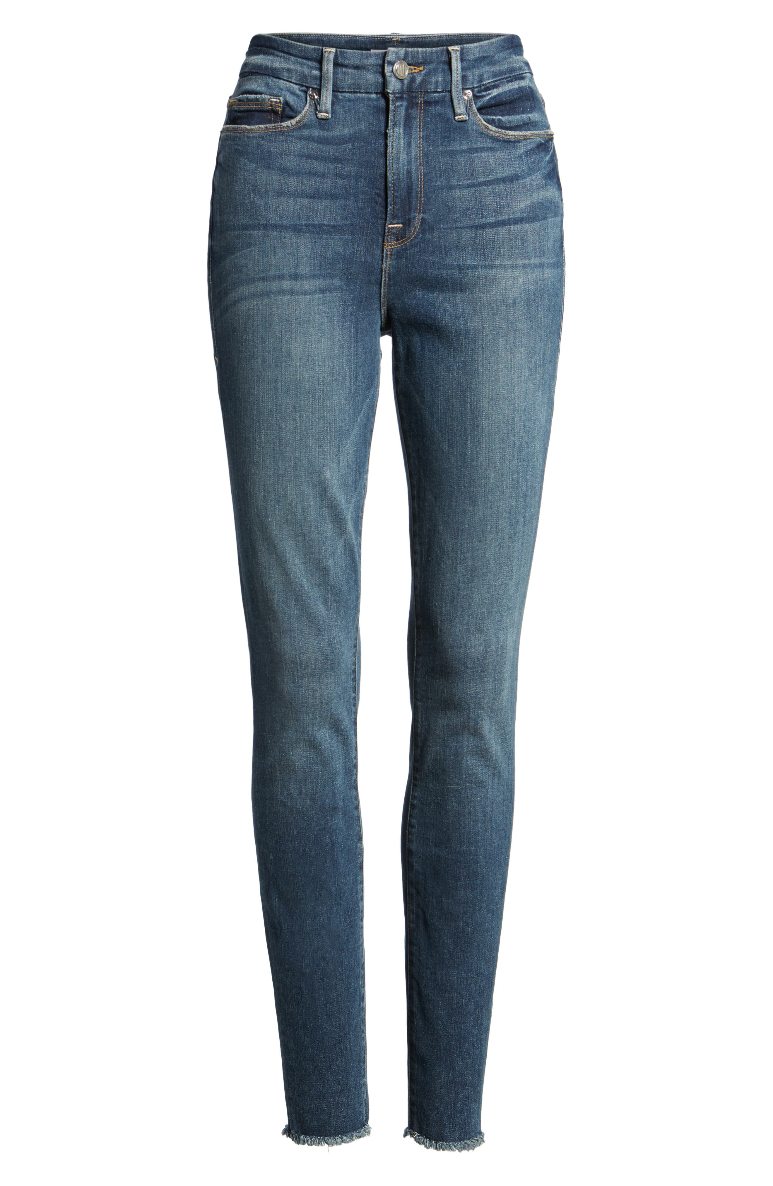 Good Legs High Rise Ripped Skinny Jeans,                         Main,                         color, 401