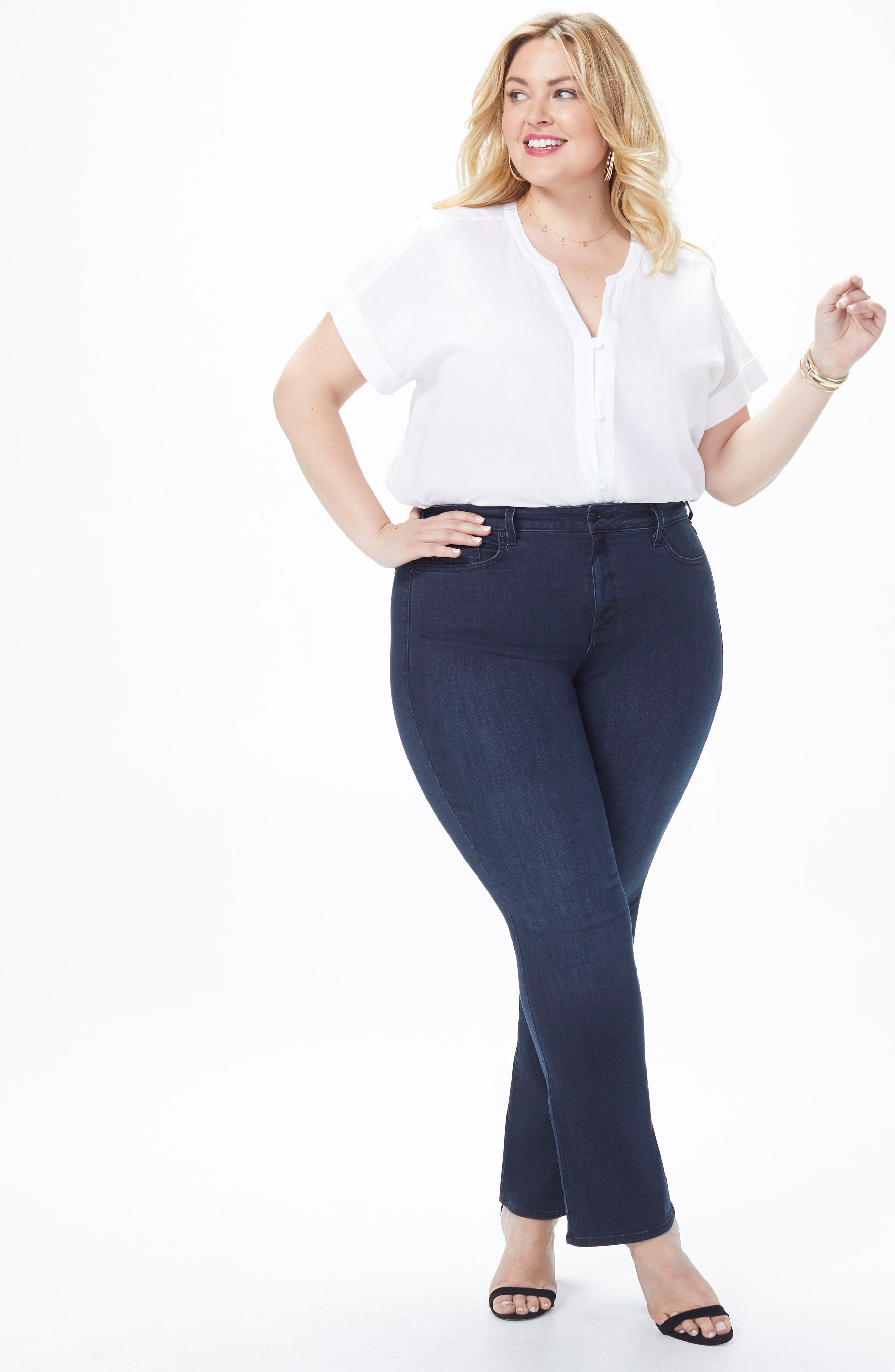 Barbara Stretch Bootcut Jeans,                             Alternate thumbnail 5, color,                             FALLEN