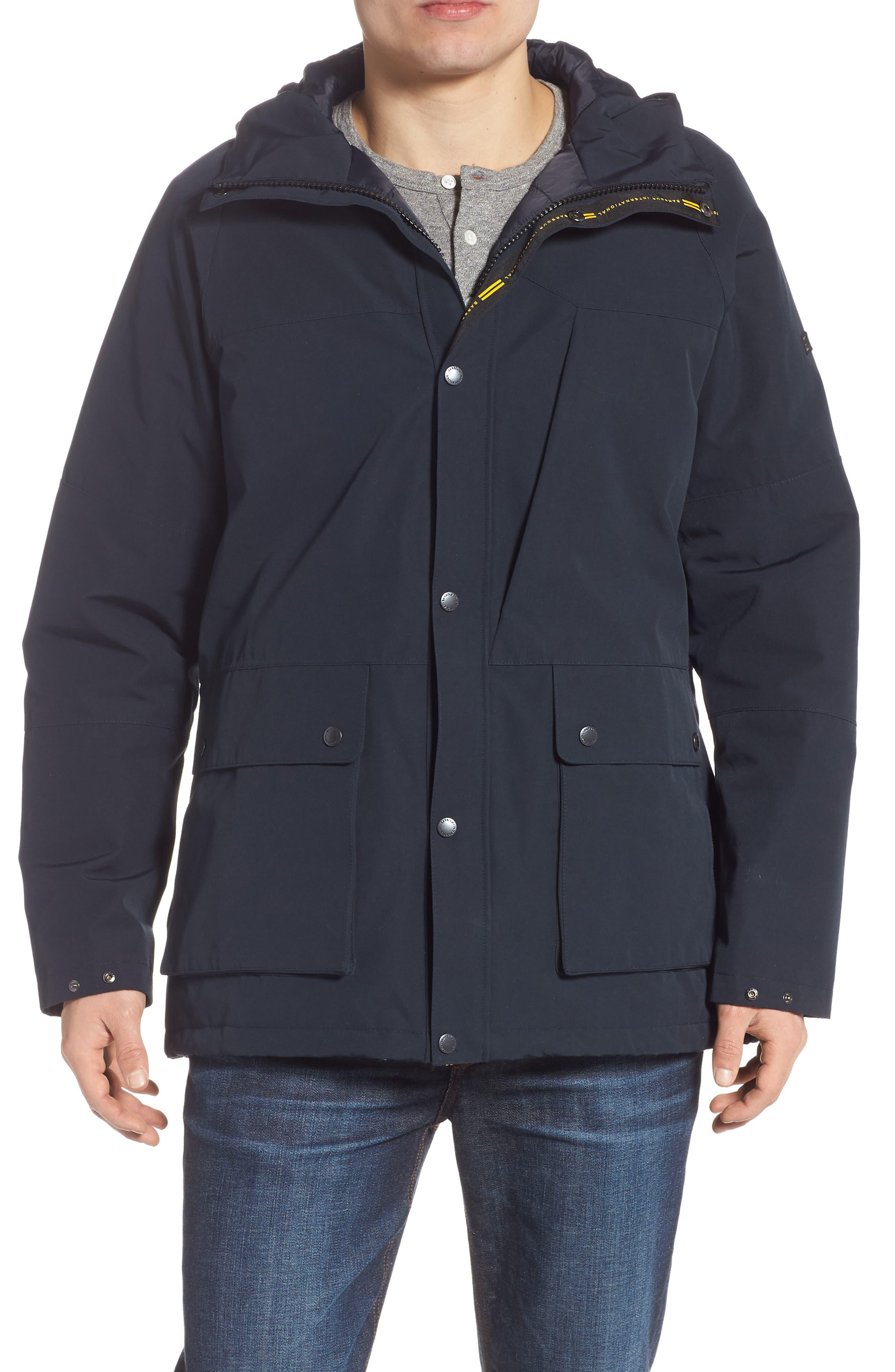 Barbour Bi-Ridge Waterproof Hooded Jacket, Blue