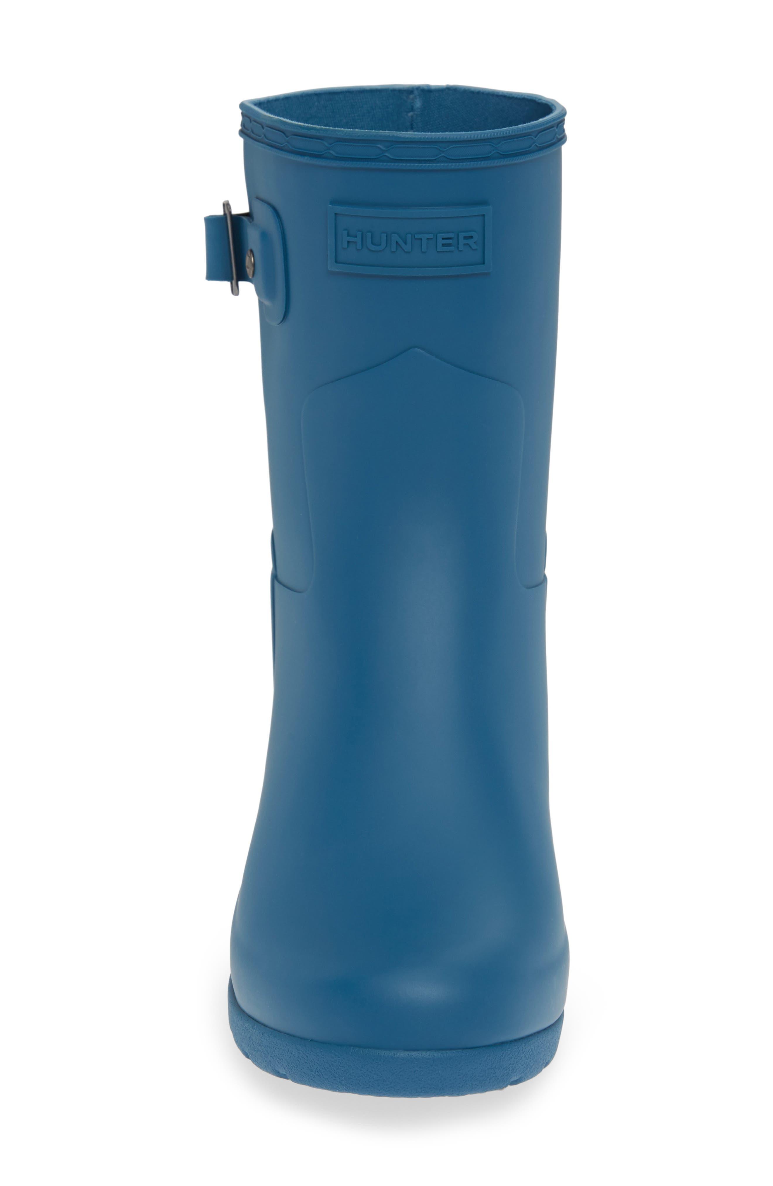 HUNTER,                             Original Refined Short Waterproof Rain Boot,                             Alternate thumbnail 4, color,                             440