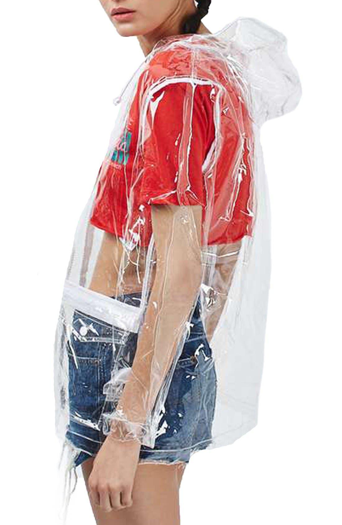 Clear Plastic Rain Jacket,                             Alternate thumbnail 4, color,                             000